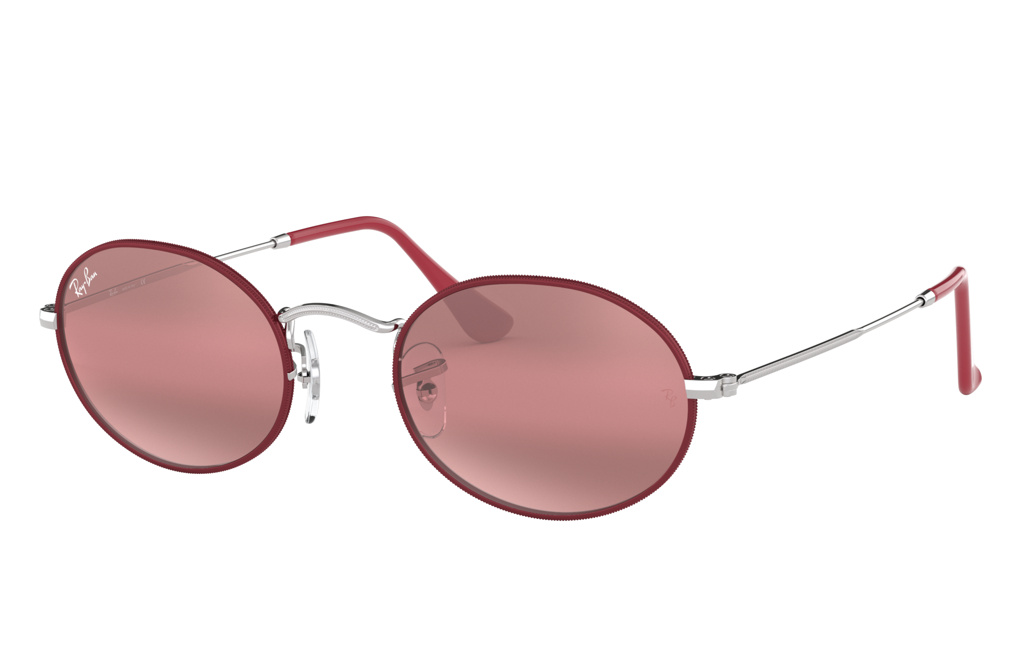 Ray-Ban Oval Silver, Violet Lenses - RB3547