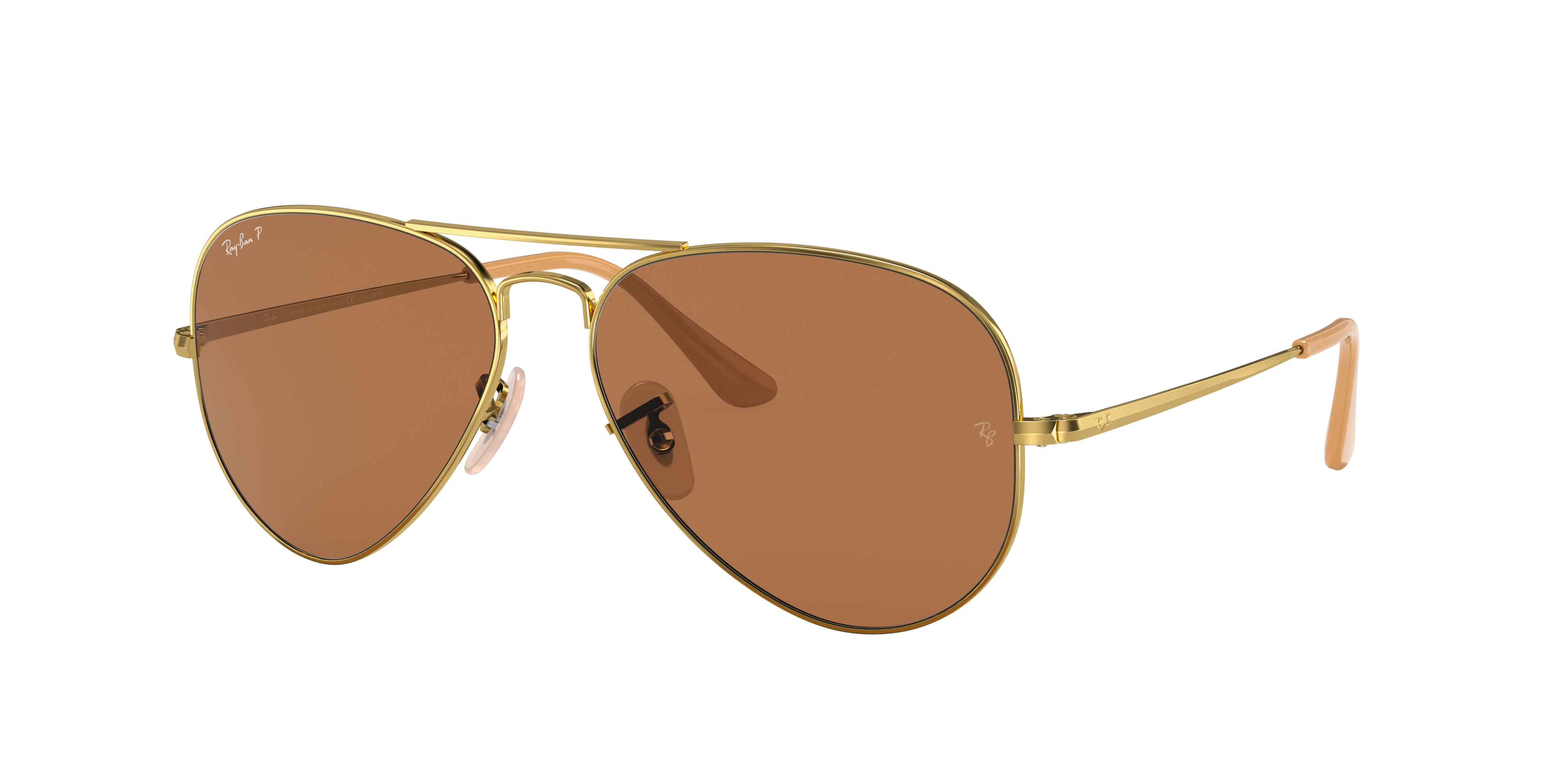 Ray-Ban Rb3689 Gold, Polarized Brown Lenses - RB3689