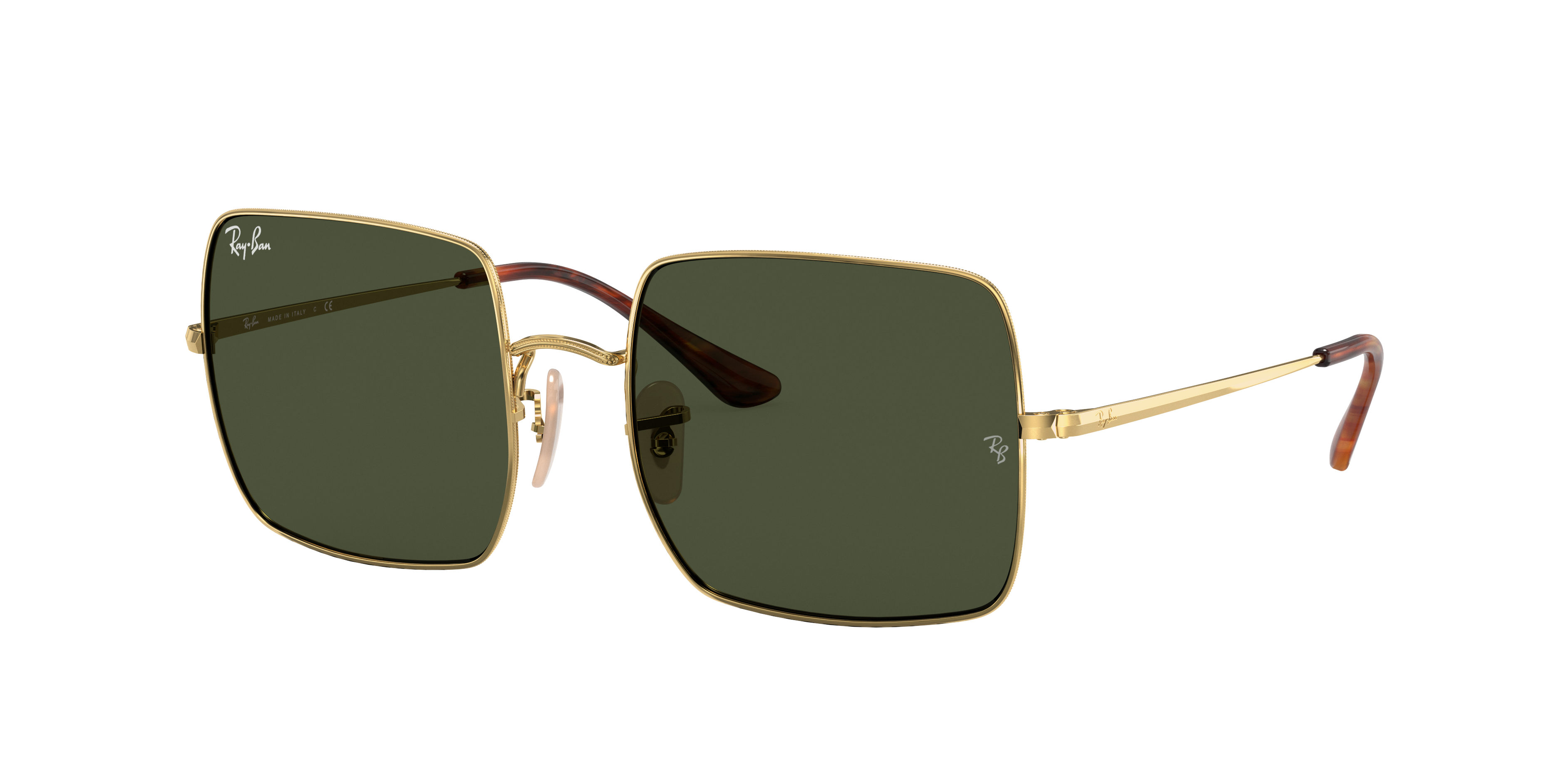 Ray-Ban Square 1971 Classic Gold, Green Lenses - RB1971