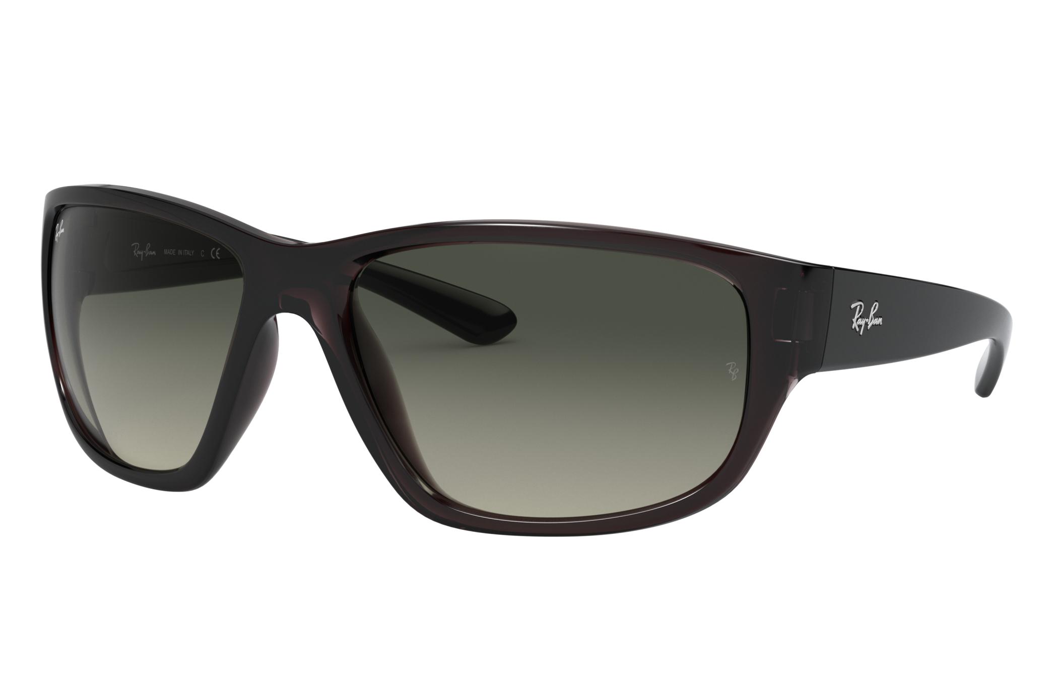 Ray-Ban Rb4300 Transparent Grey, Gray Lenses - RB4300