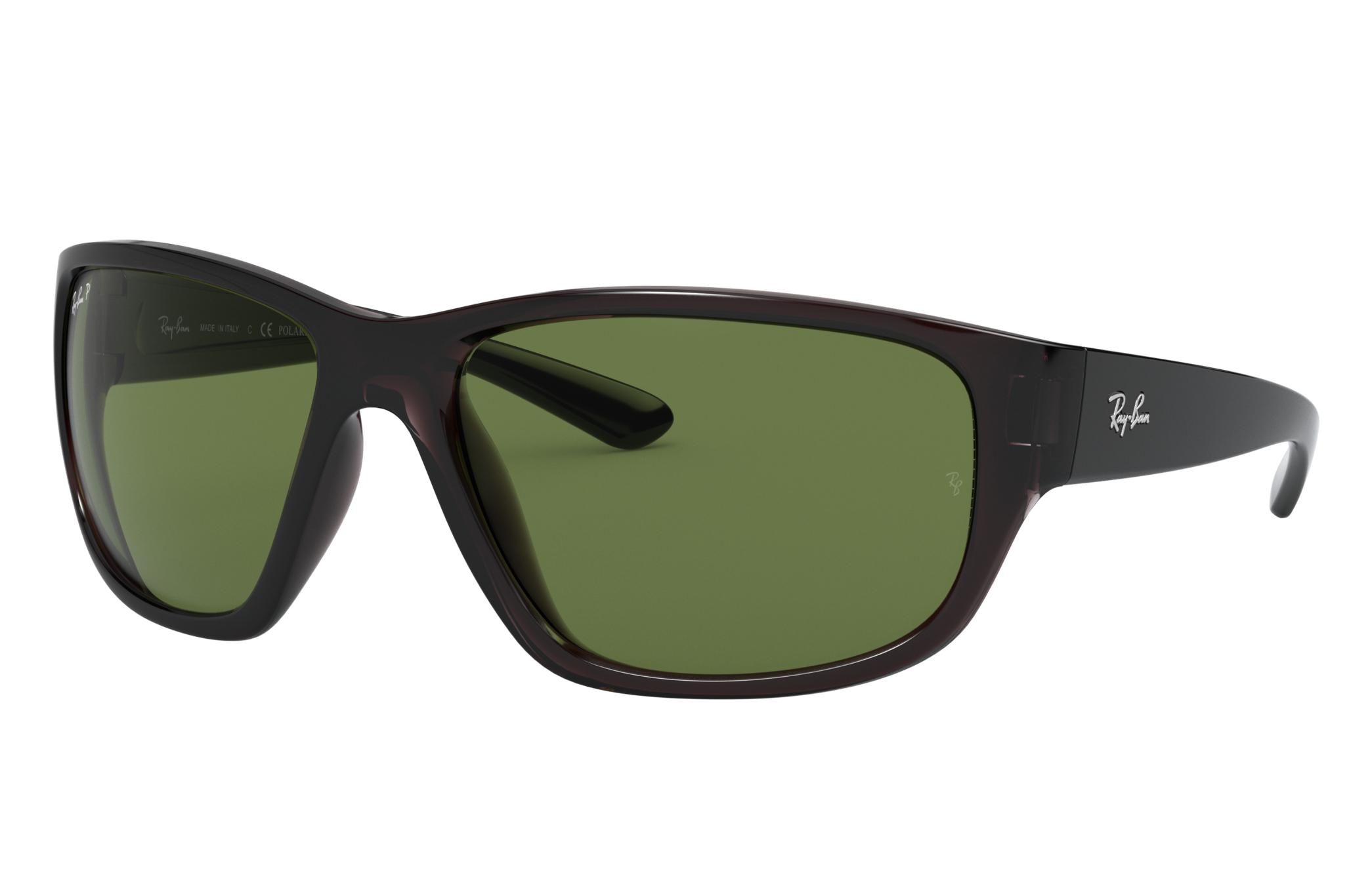 Ray-Ban Rb4300 Transparent Grey, Polarized Green Lenses - RB4300