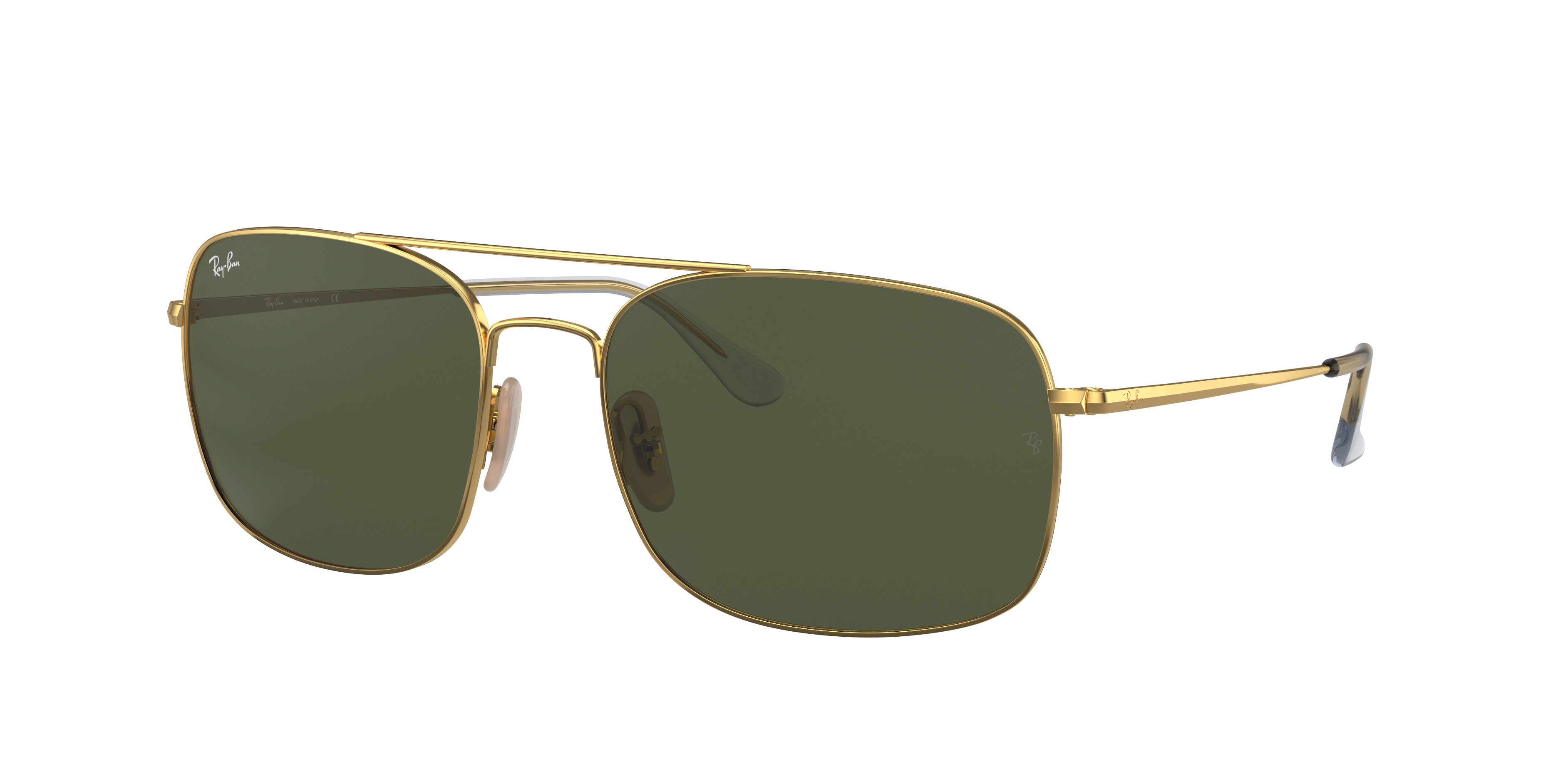 Ray-Ban Rb3611 Gold, Green Lenses - RB3611