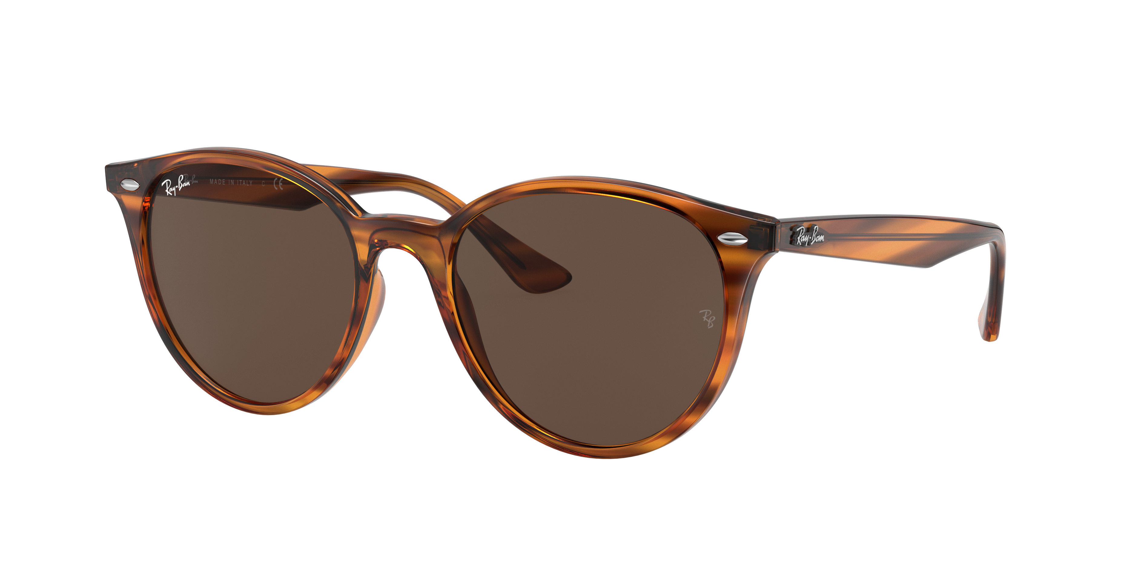 Ray-Ban Rb4305 Striped Red Havana, Brown Lenses - RB4305
