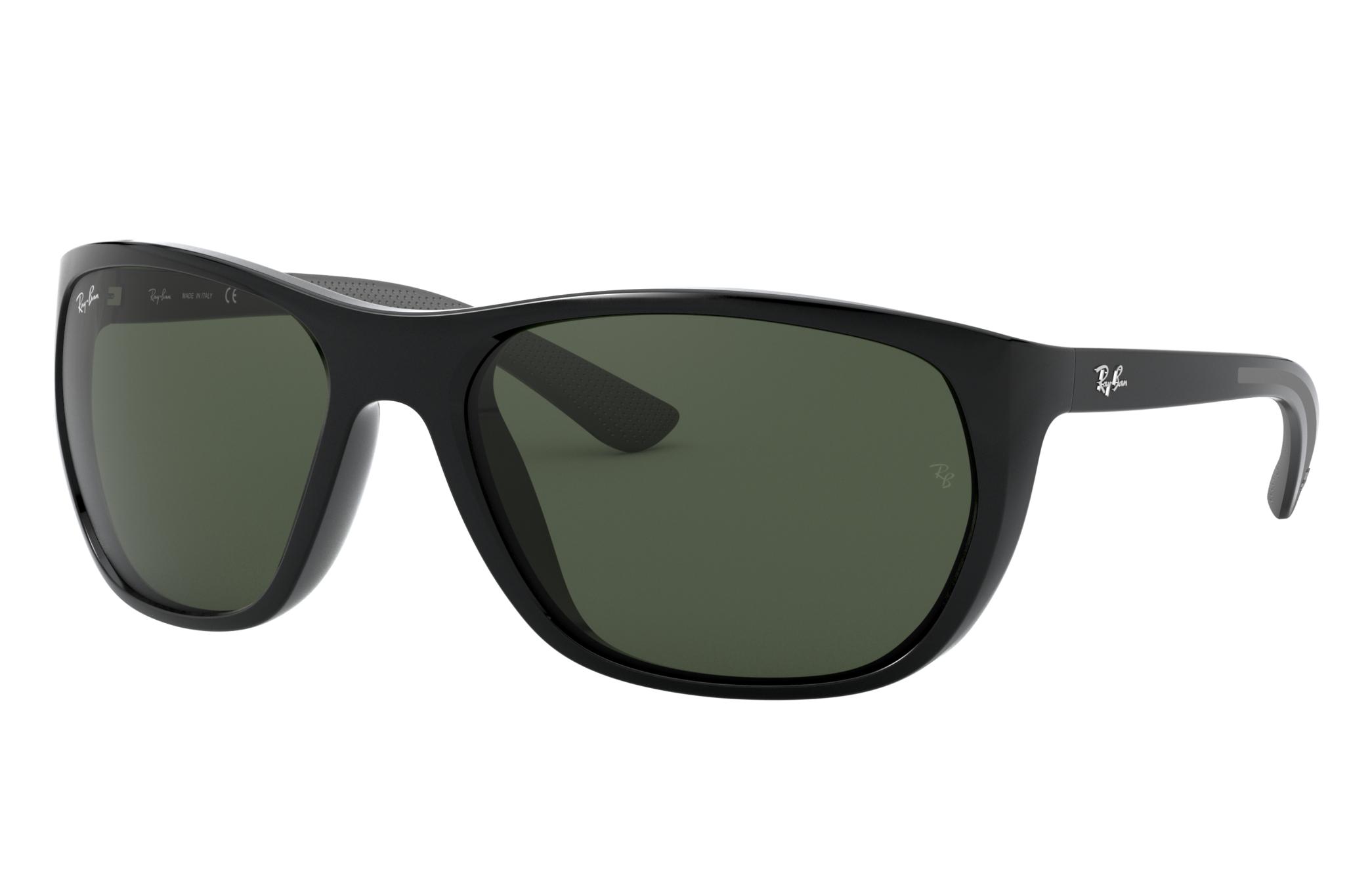 Ray-Ban Rb4307 Black, Green Lenses - RB4307