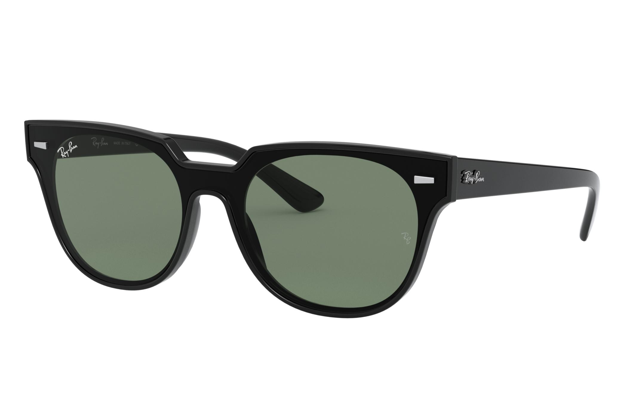 Ray-Ban Blaze Meteor Black, Green Lenses - RB4368N