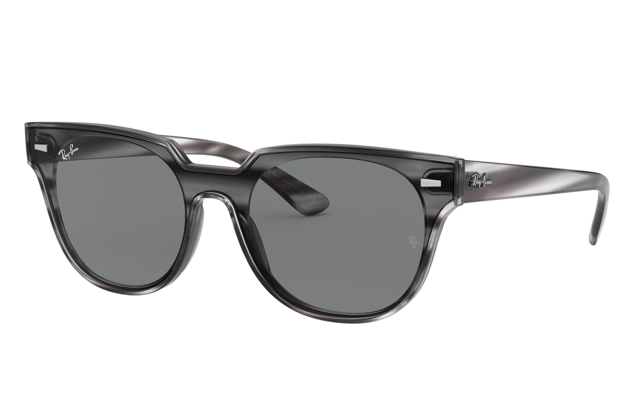 Ray-Ban Blaze Meteor Striped Grey Havana, Gray Lenses - RB4368N
