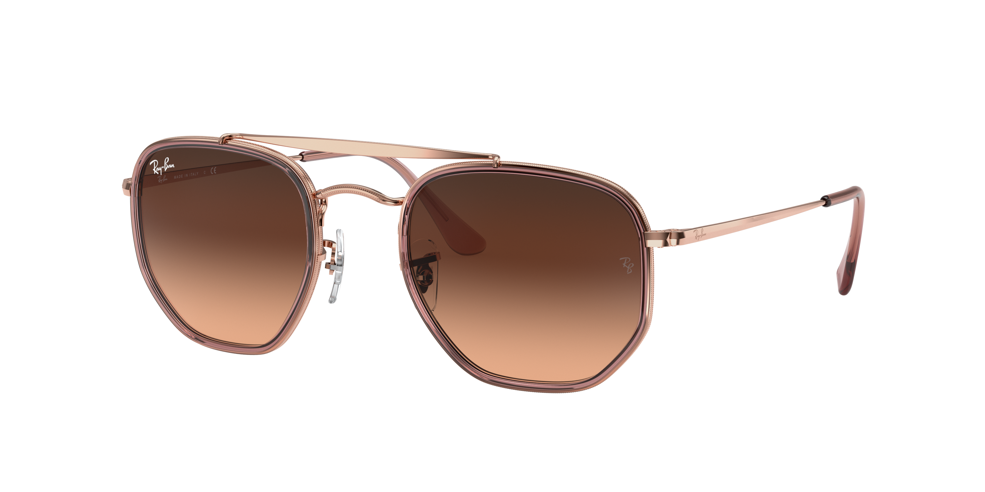Ray-Ban Marshal II Bronze-Copper, Pink Lenses - RB3648M