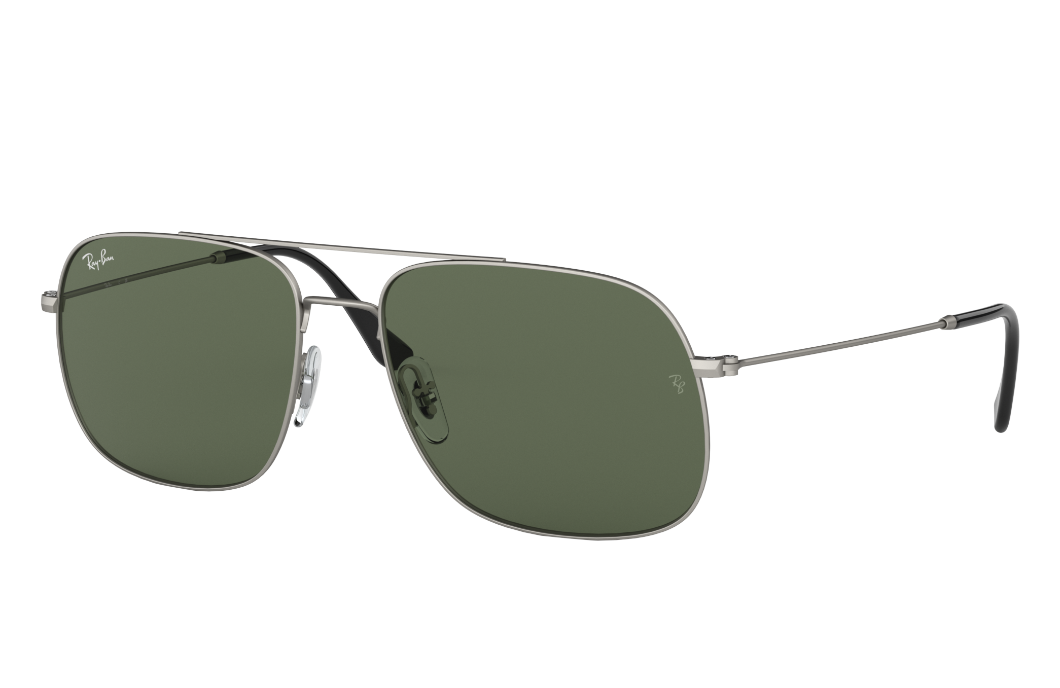 Ray-Ban Rb3595 Silver, Green Lenses - RB3595