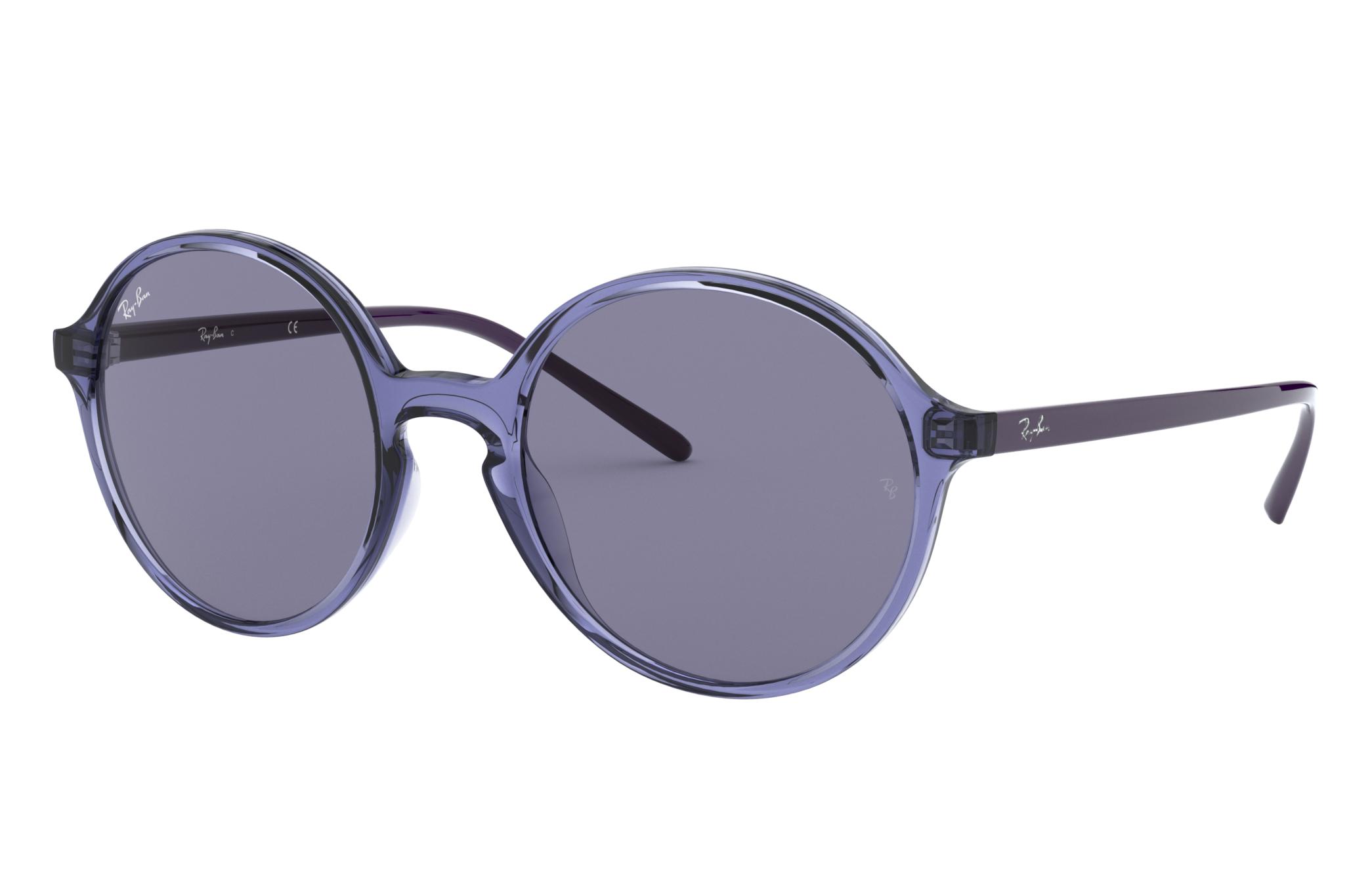 Ray-Ban Rb4304 Low Bridge Fit Violet, Blue Lenses - RB4304F