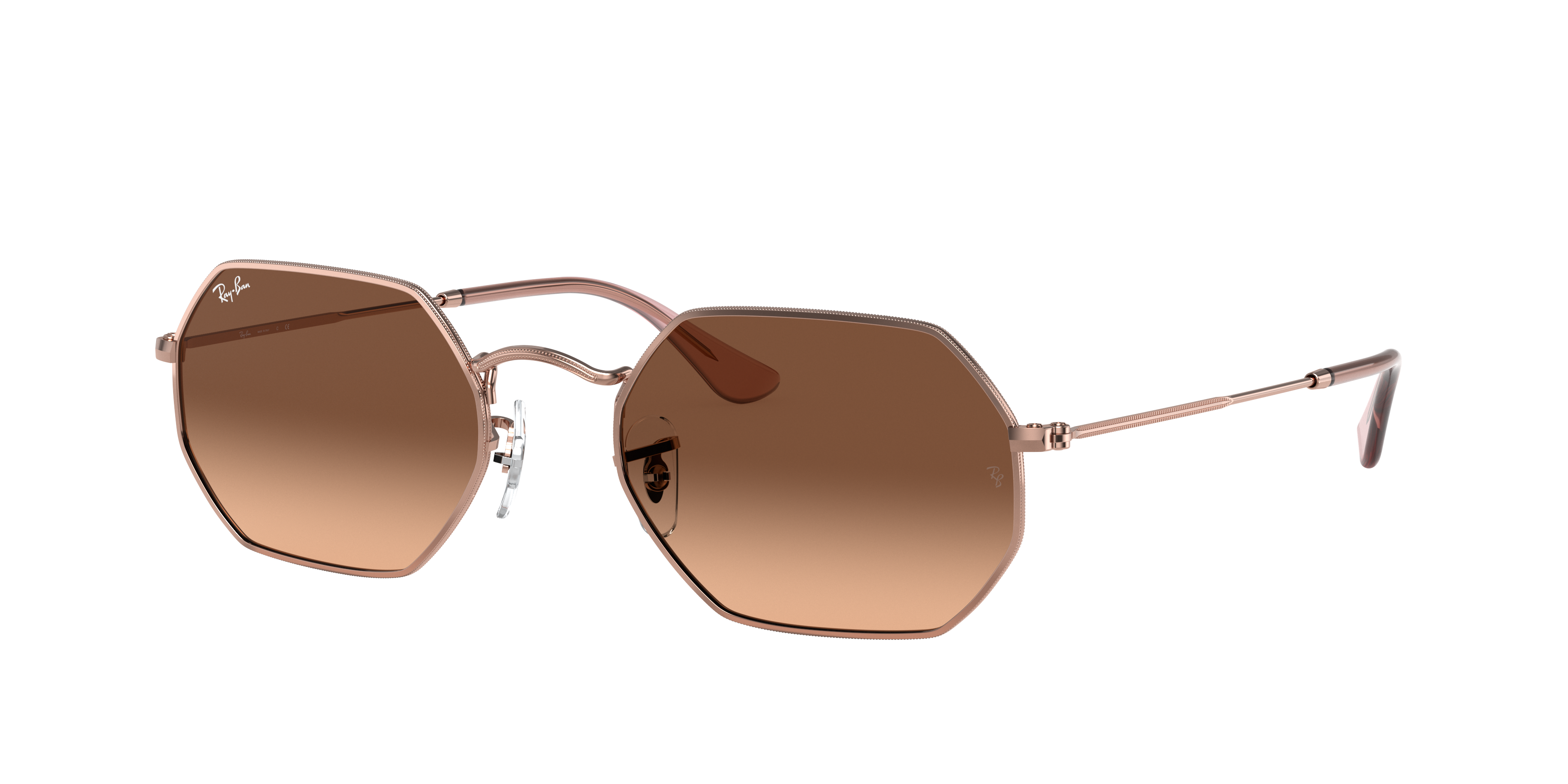 Ray-Ban Octagonal Classic Bronze-Copper, Brown Lenses - RB3556N