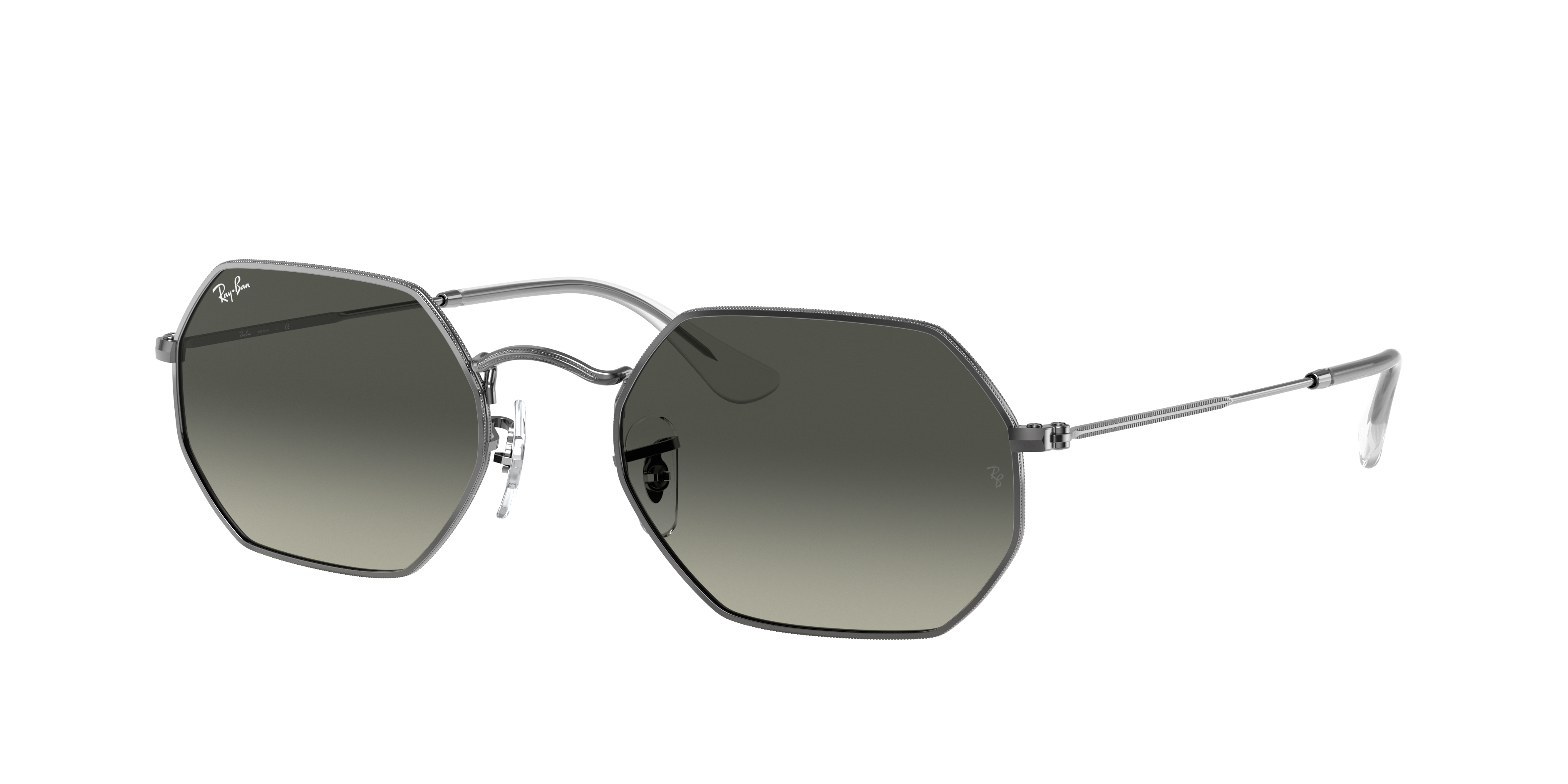 Ray-Ban Octagonal Classic Gunmetal, Gray Lenses - RB3556N