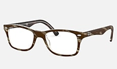 Ray-Ban RX5228F 5914 53-17 RX5228F(JPフィット) ブラウン/レッド/イエロー 新作メガネ