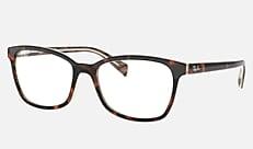 Ray-Ban RX5362F 5913 54-17 RX5362F(JPフィット) ブラック/ダークブラウン/イエロー 新作メガネ