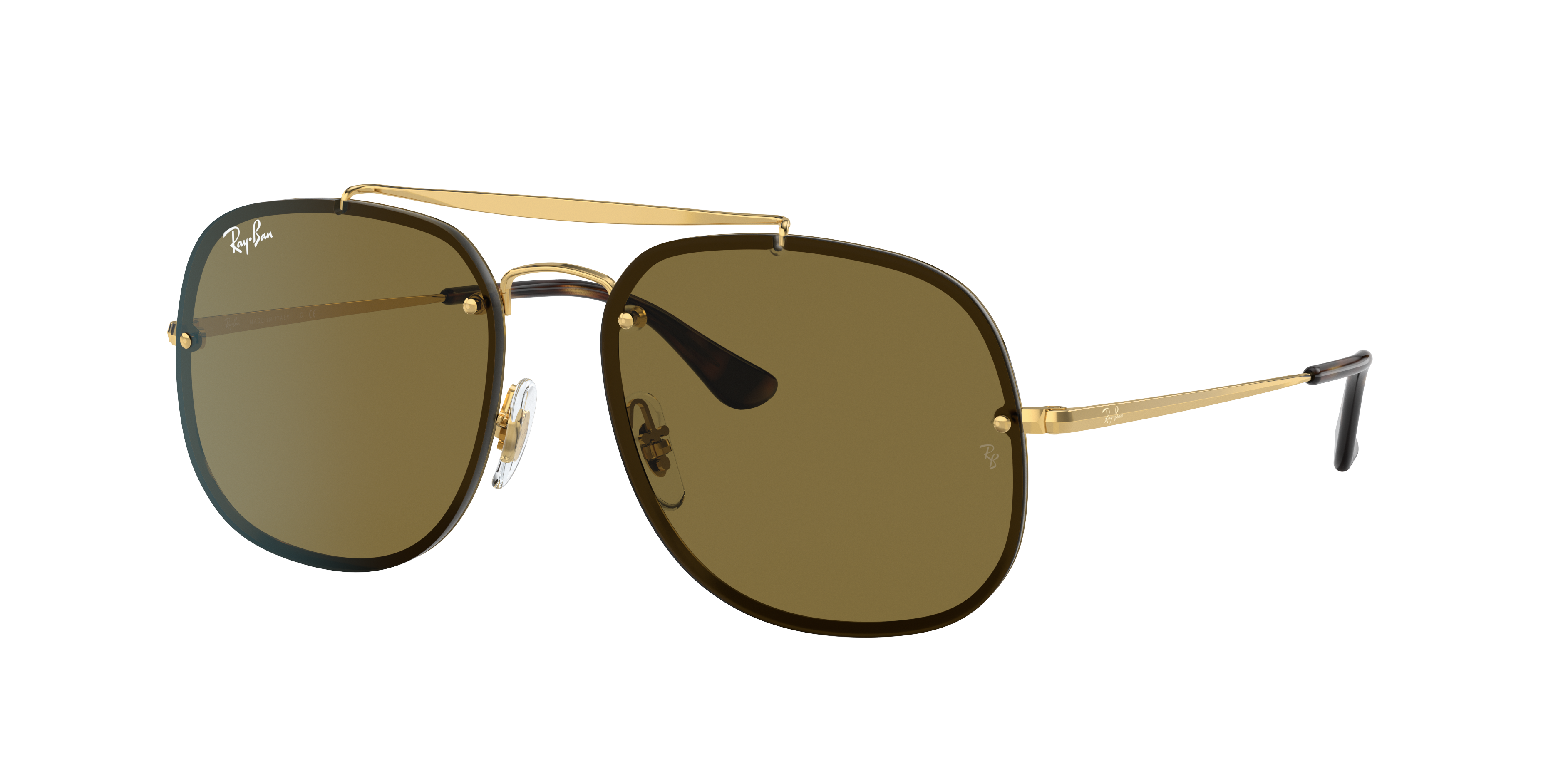 Ray-Ban Blaze General Gold, Brown Lenses - RB3583N