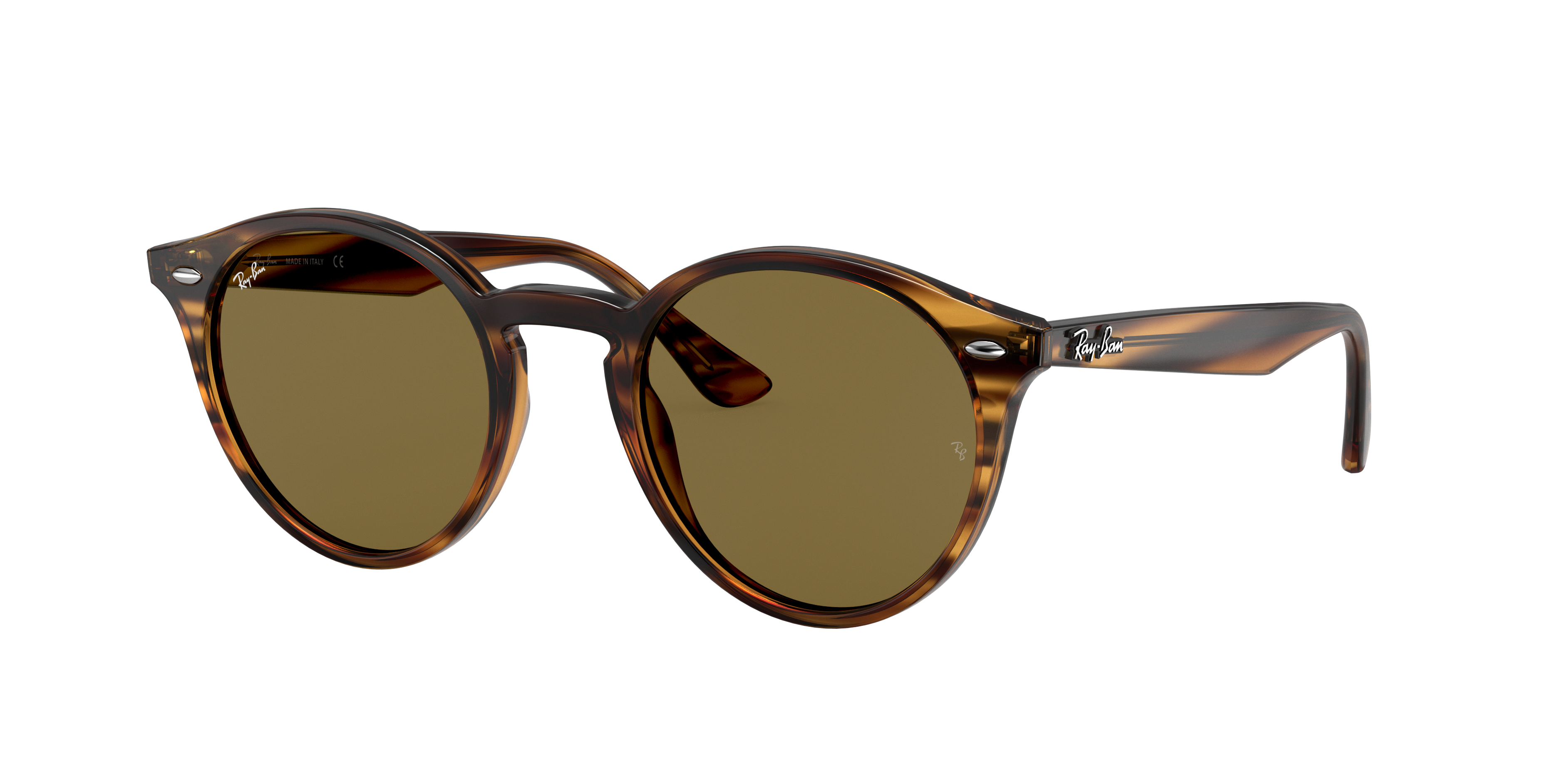 Ray-Ban Rb2180 Striped Red Havana, Brown Lenses - RB2180