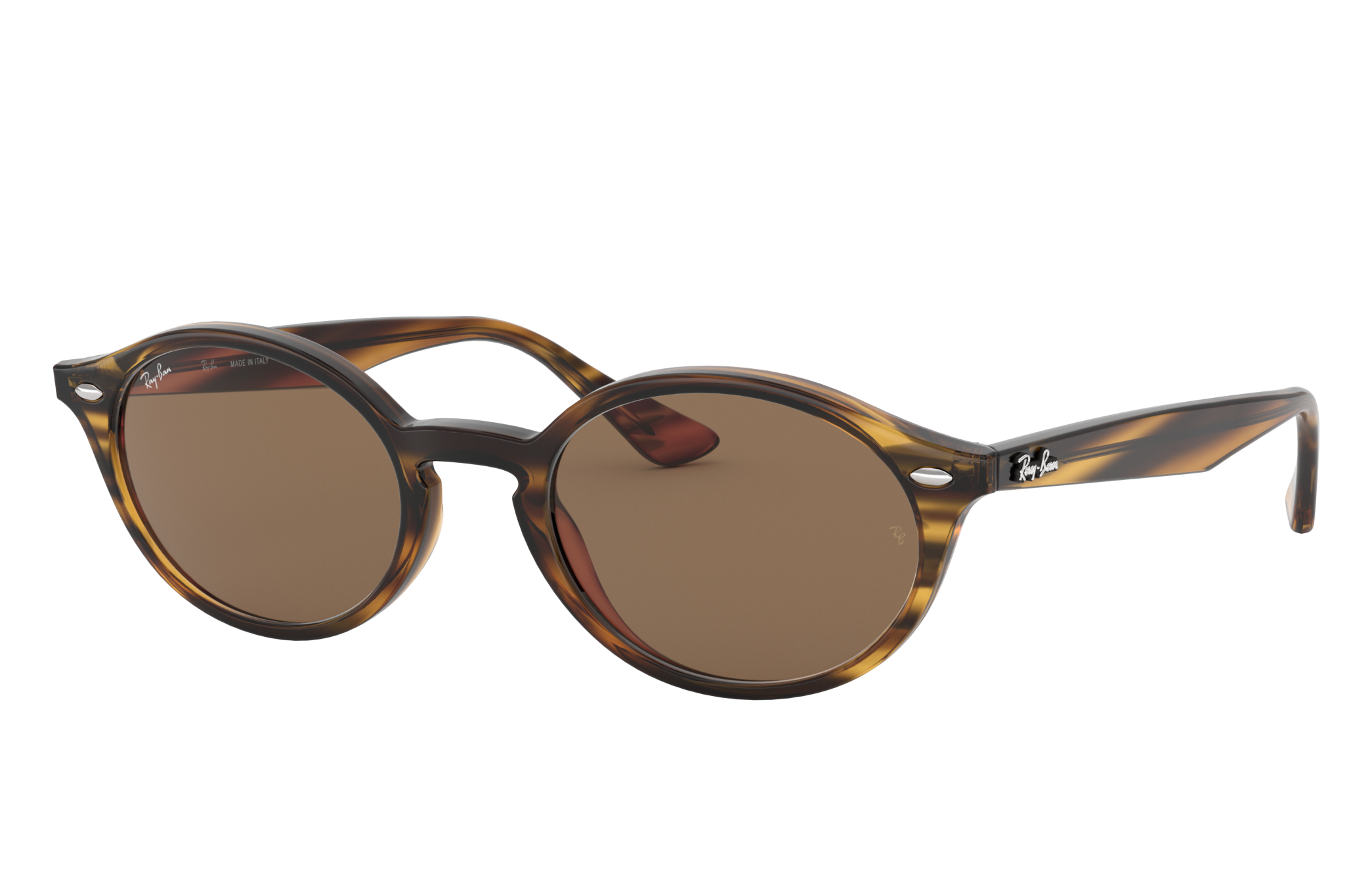 Ray-Ban Rb4315 Striped Red Havana, Brown Lenses - RB4315