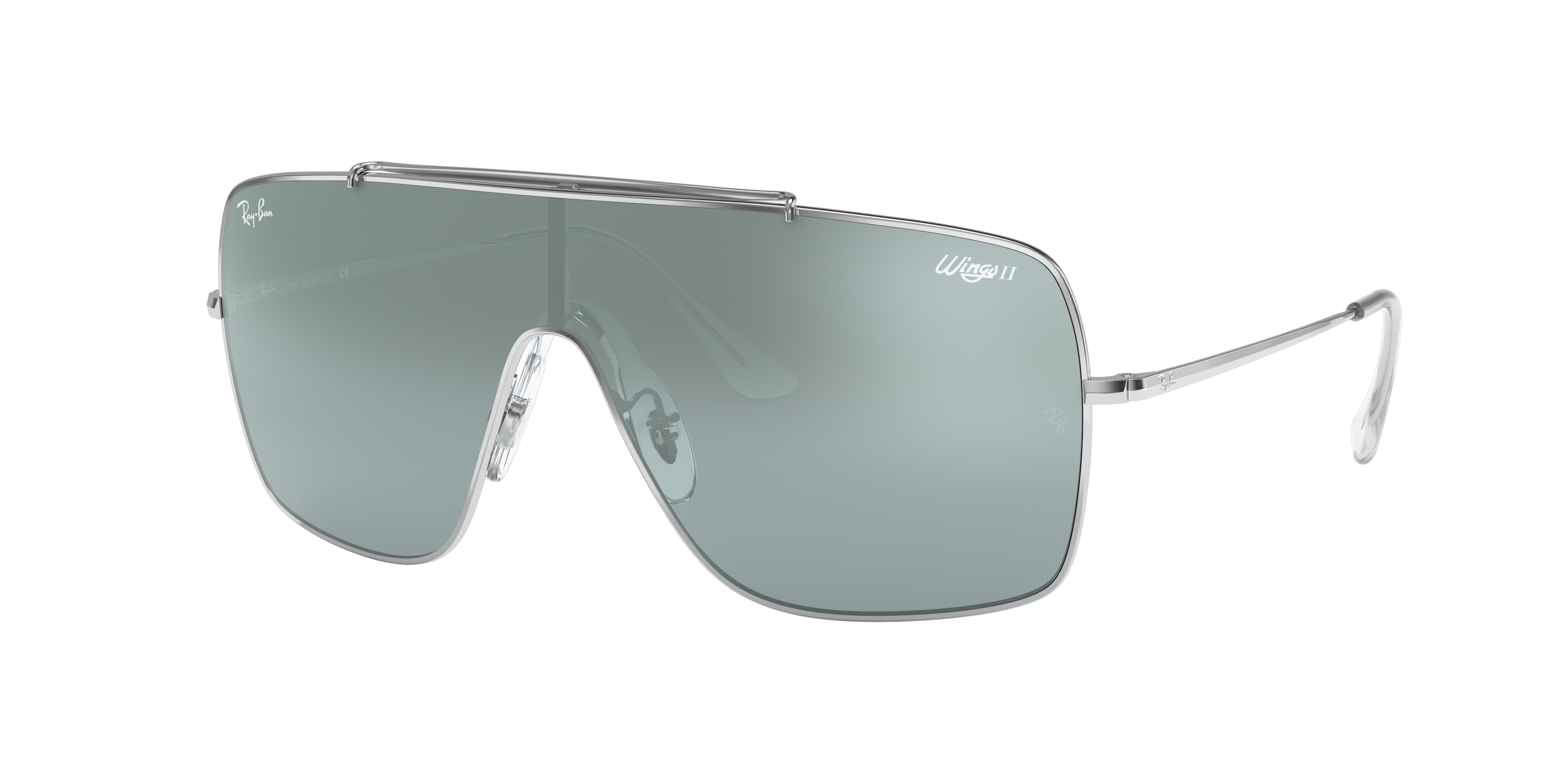 Ray-Ban Wings II Silver, Blue Lenses - RB3697