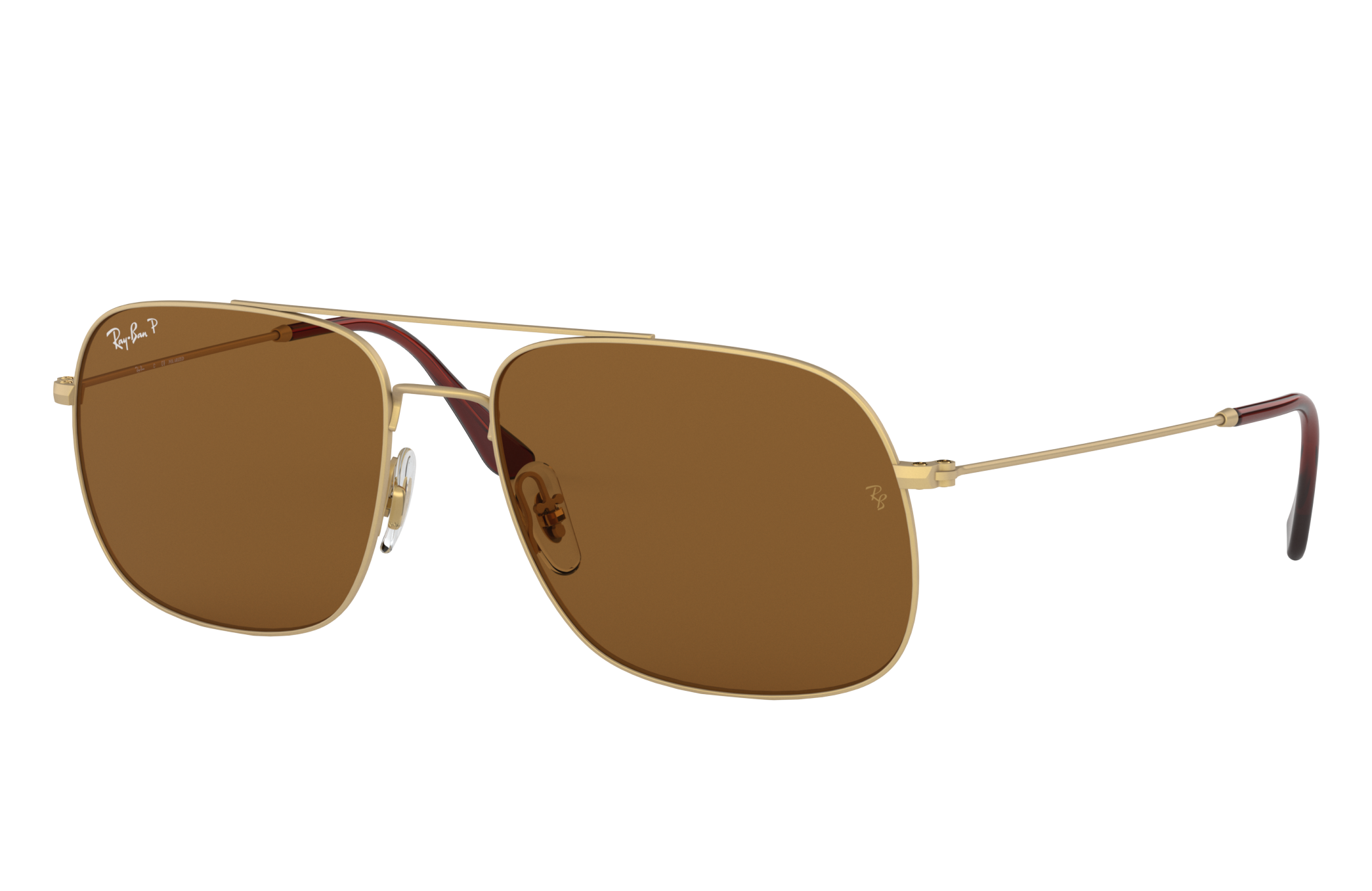 Ray-Ban Rb3595 Gold, Polarized Brown Lenses - RB3595