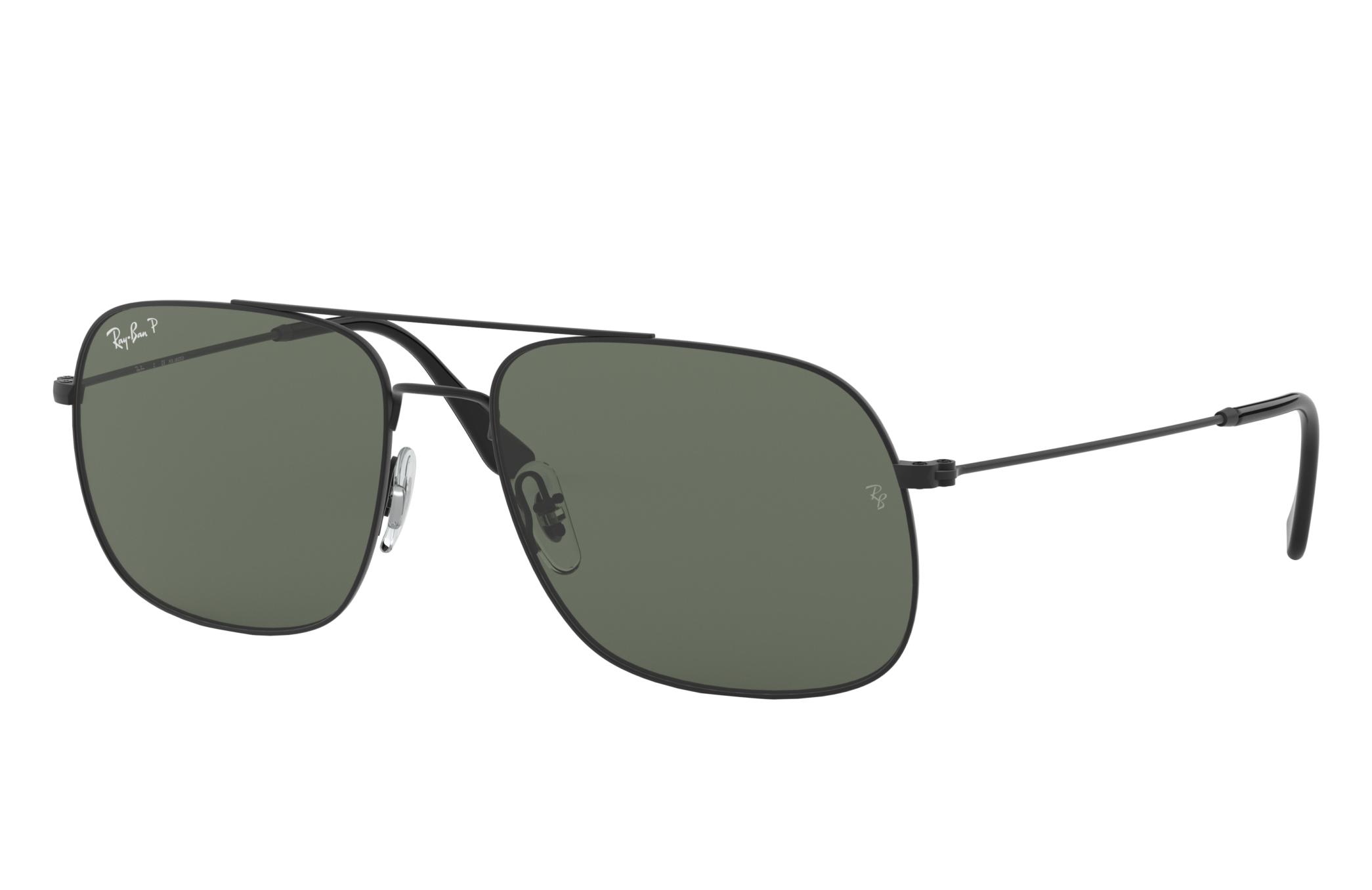 Ray-Ban Rb3595 Black, Polarized Green Lenses - RB3595