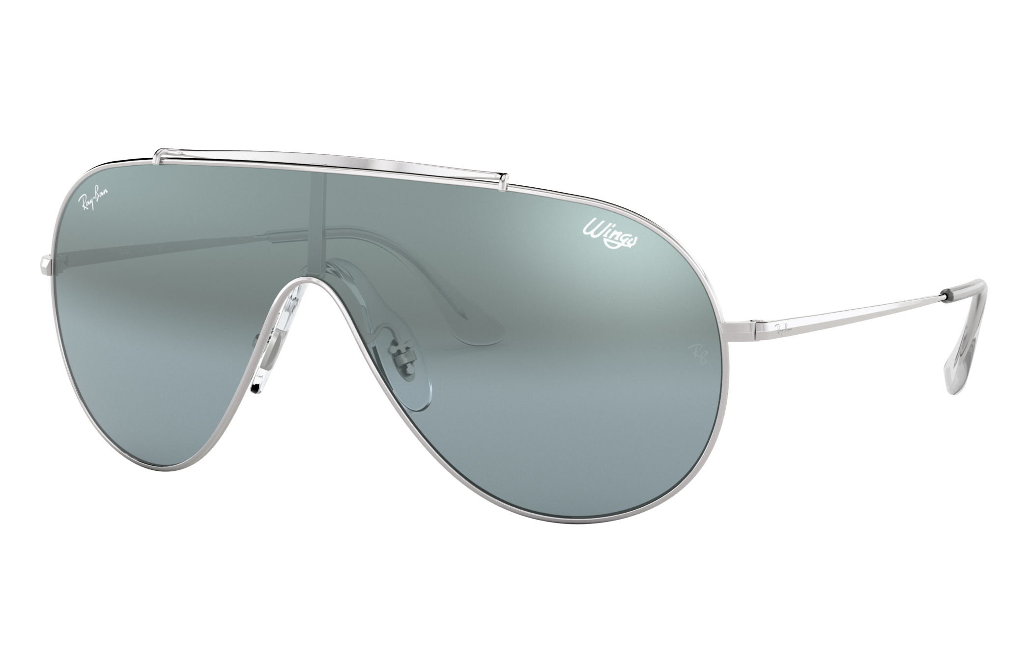 Ray-Ban Wings Silver, Blue Lenses - RB3597