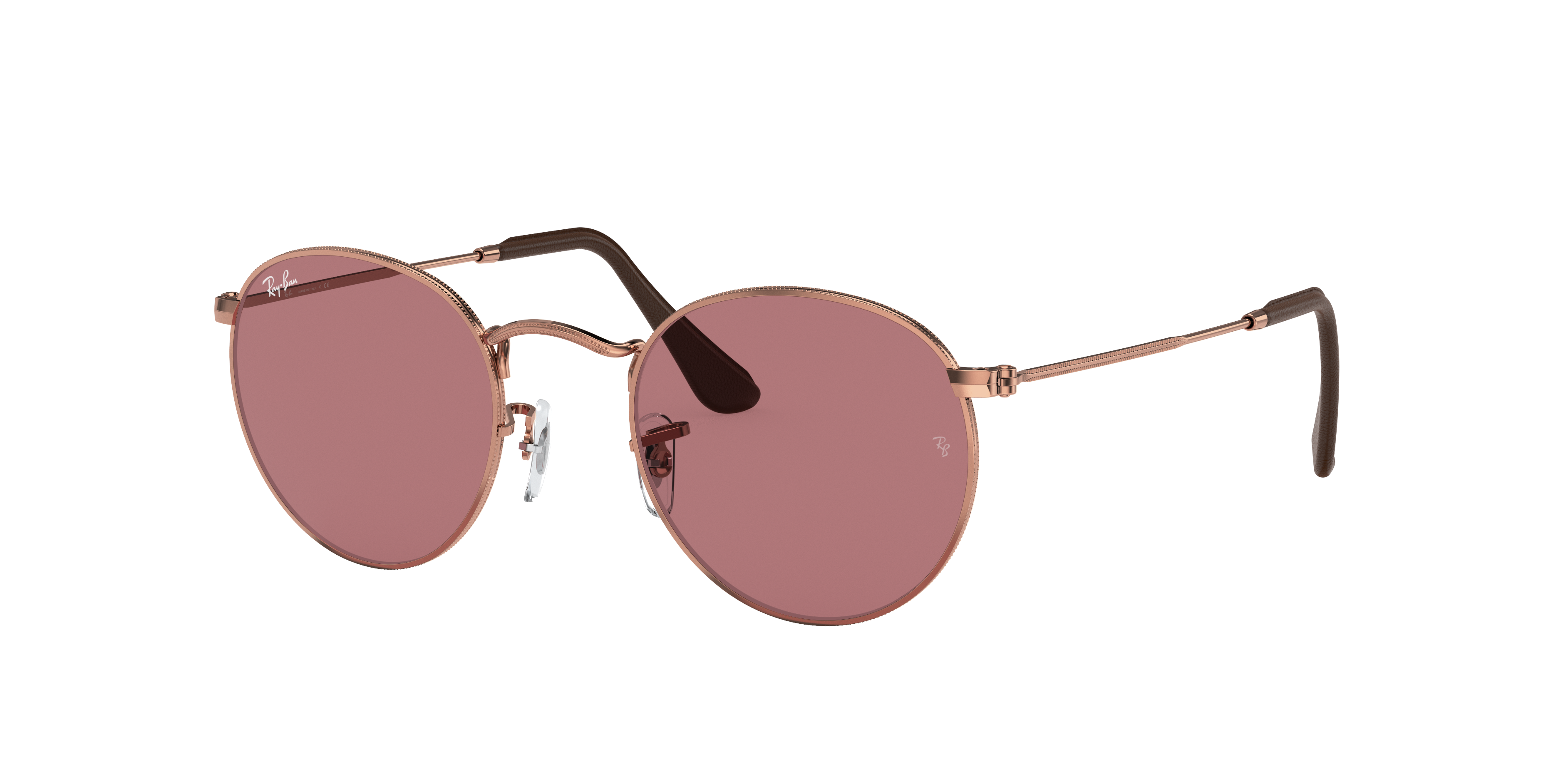 Ray-Ban Round Metal @collection Bronze-Copper, Violet Lenses - RB3447