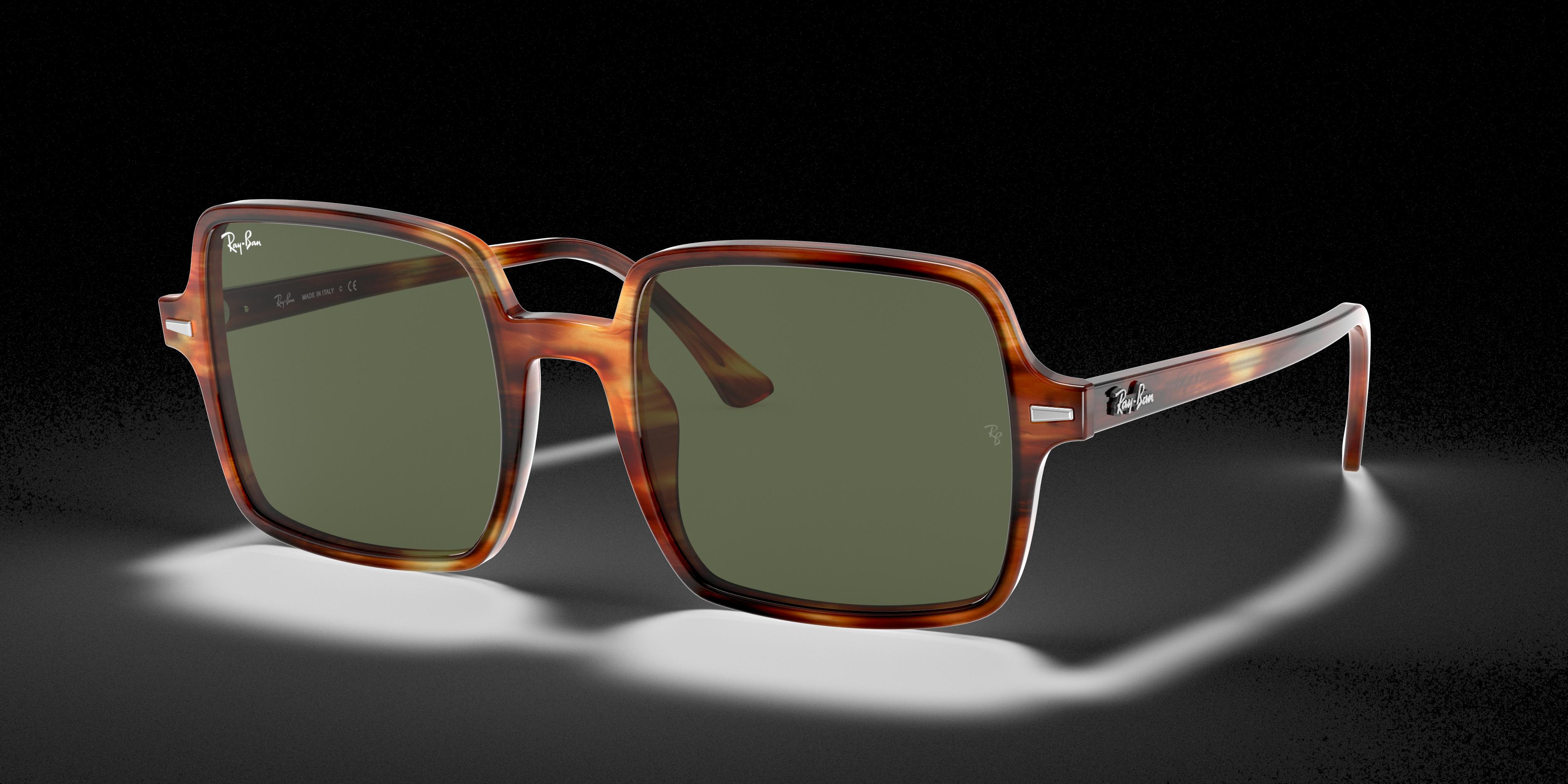 Ray-Ban Square II Tortoise, Green Lenses - RB1973