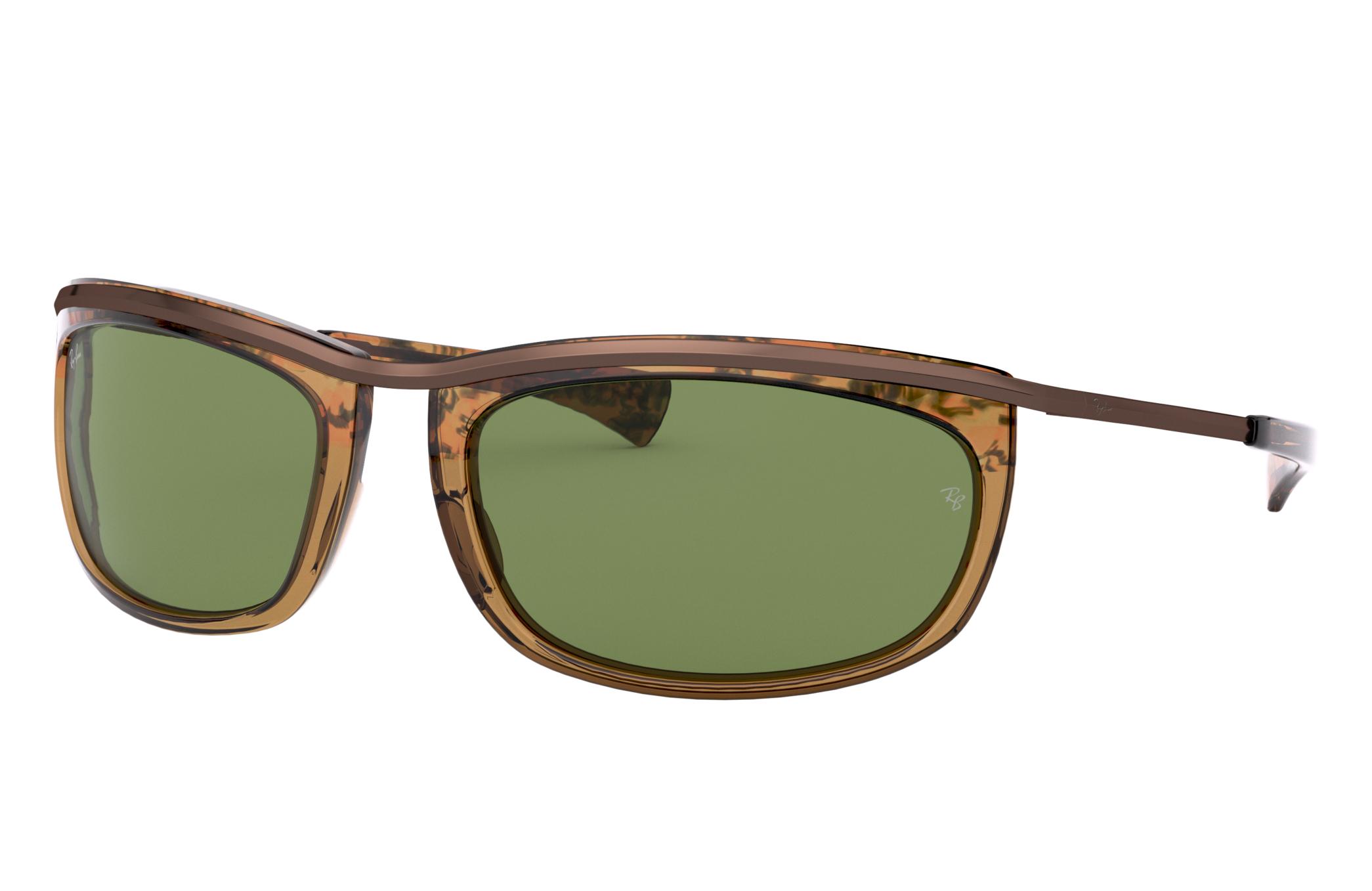 Ray-Ban Olympian I Tortoise, Green Lenses - RB2319