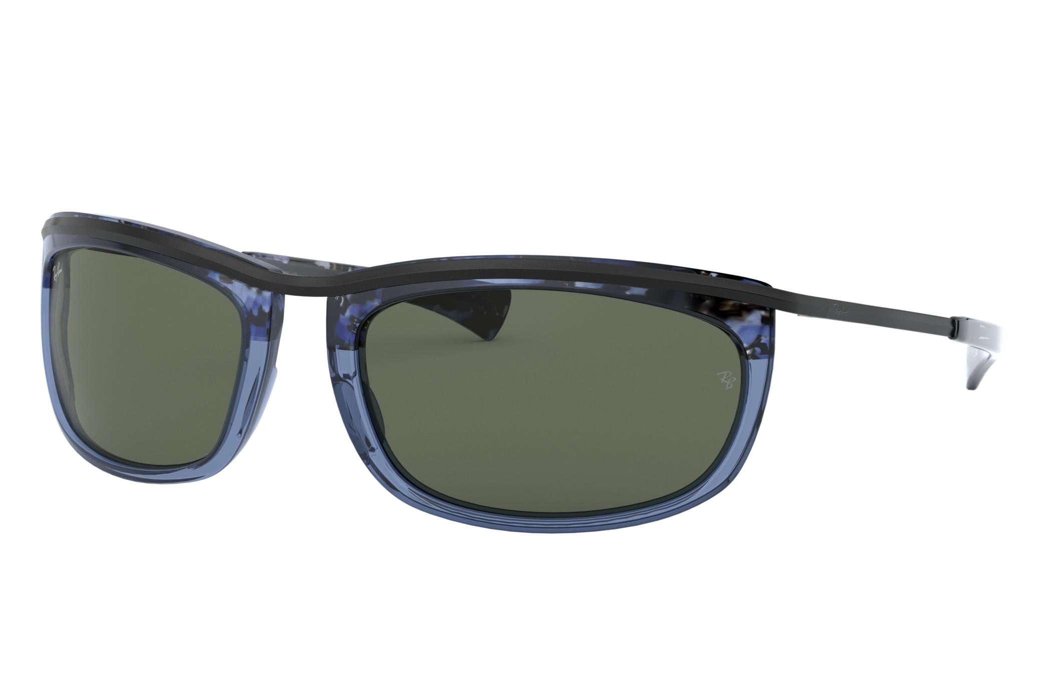 Ray-Ban Olympian I Blue, Green Lenses - RB2319