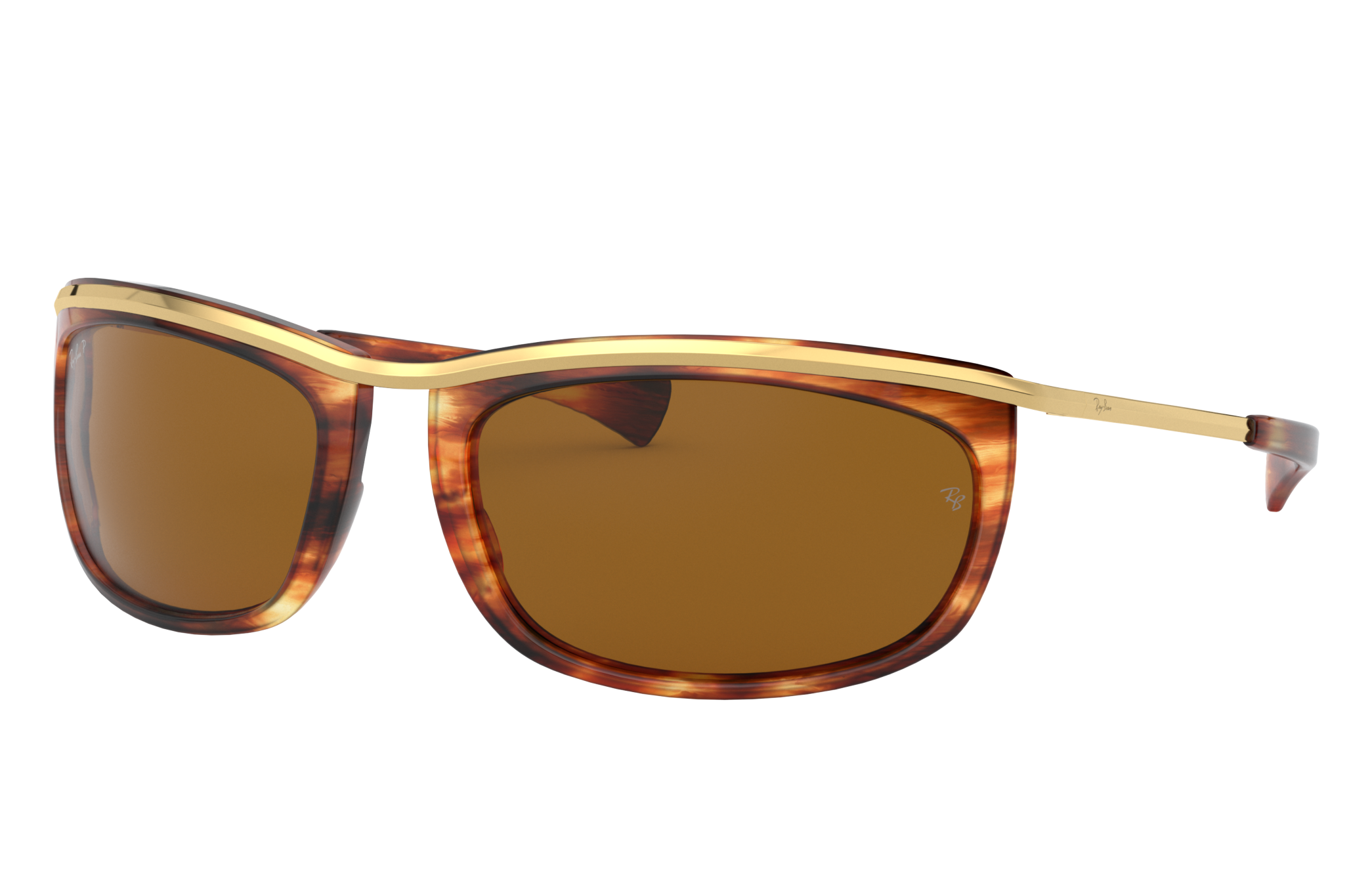 Ray-Ban Olympian I Gold, Polarized Brown Lenses - RB2319