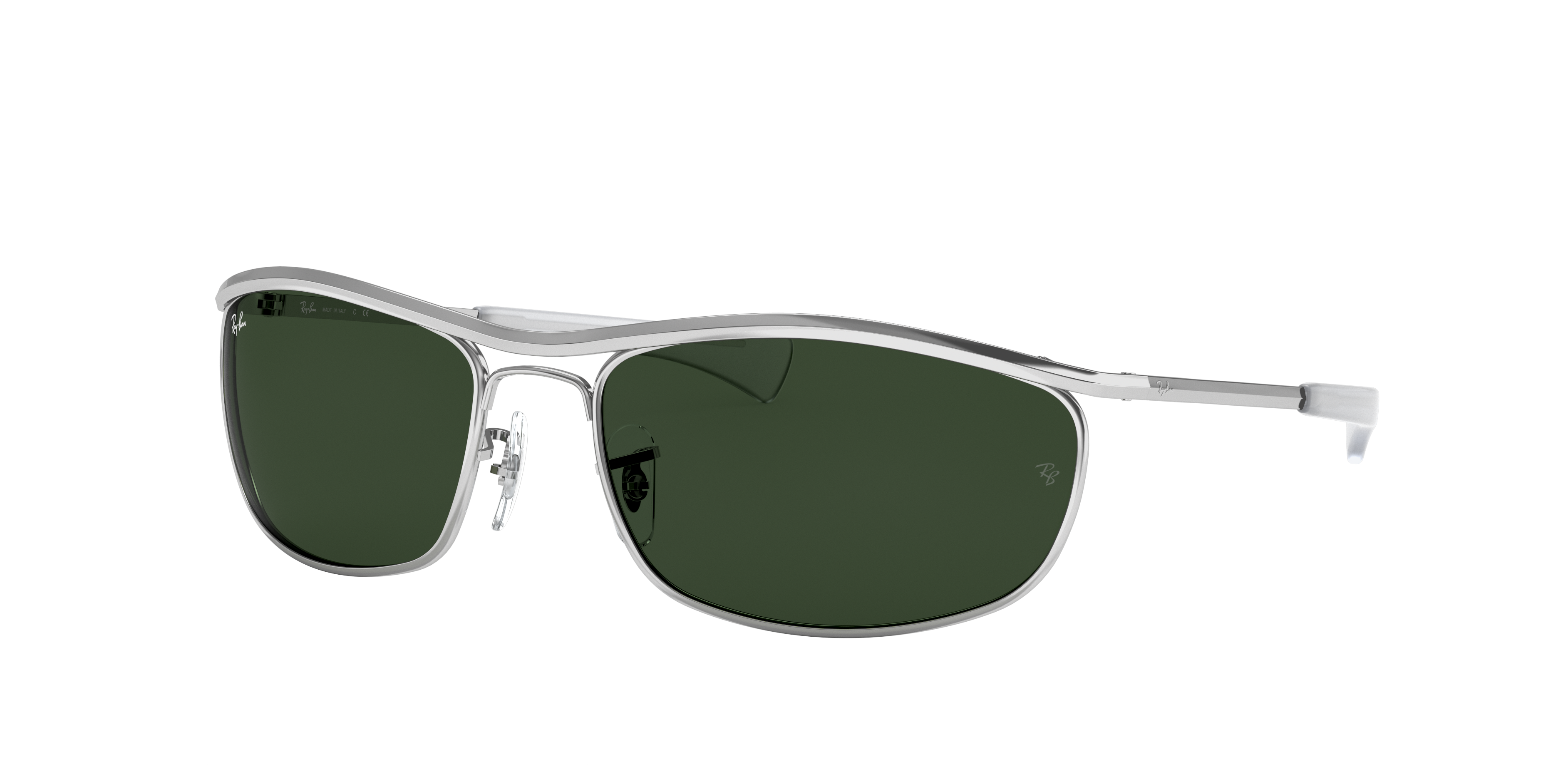 Ray-Ban Olympian I Deluxe Silver, Green Lenses - RB3119M