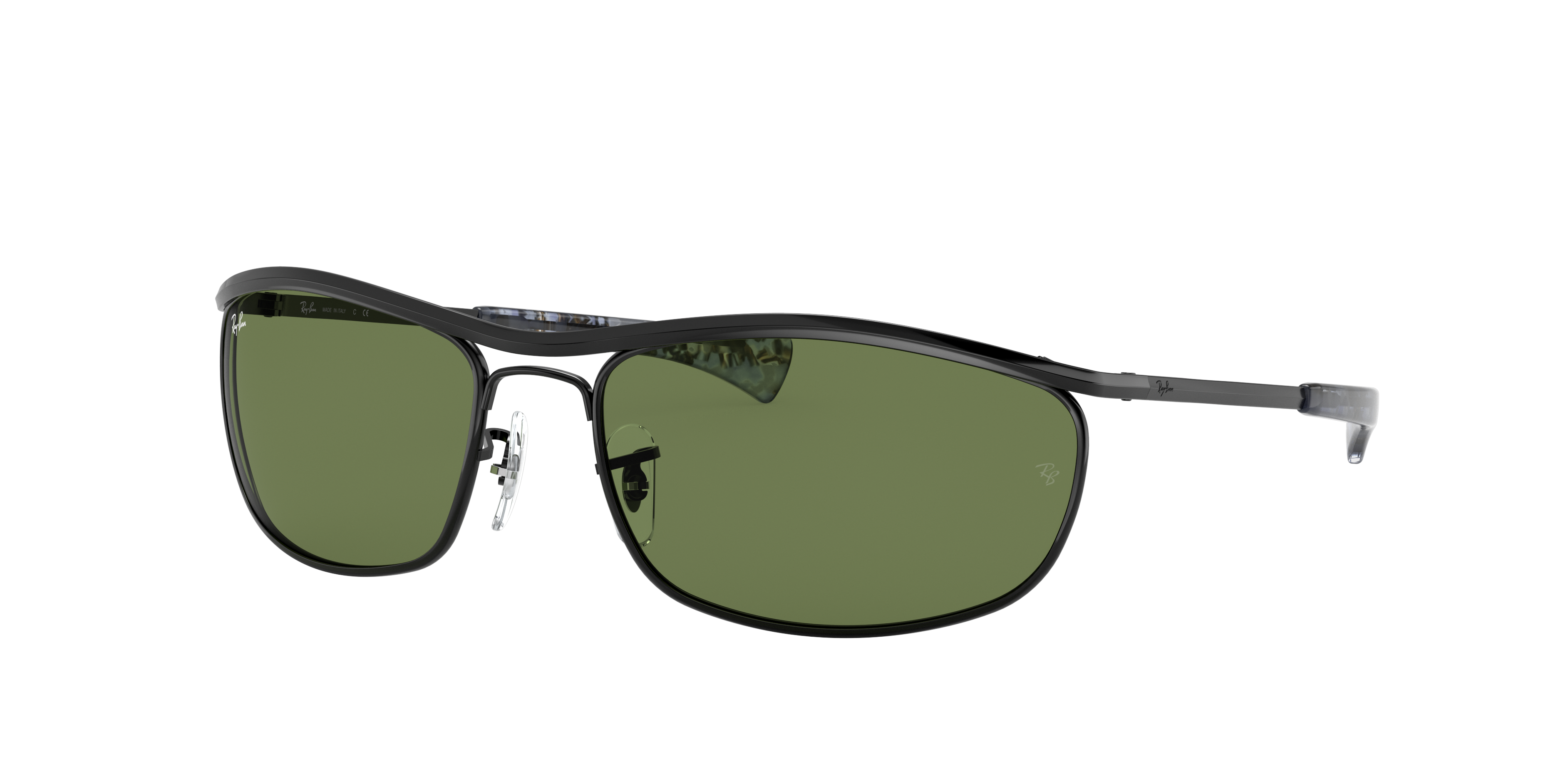 Ray-Ban Olympian I Deluxe Black, Green Lenses - RB3119M