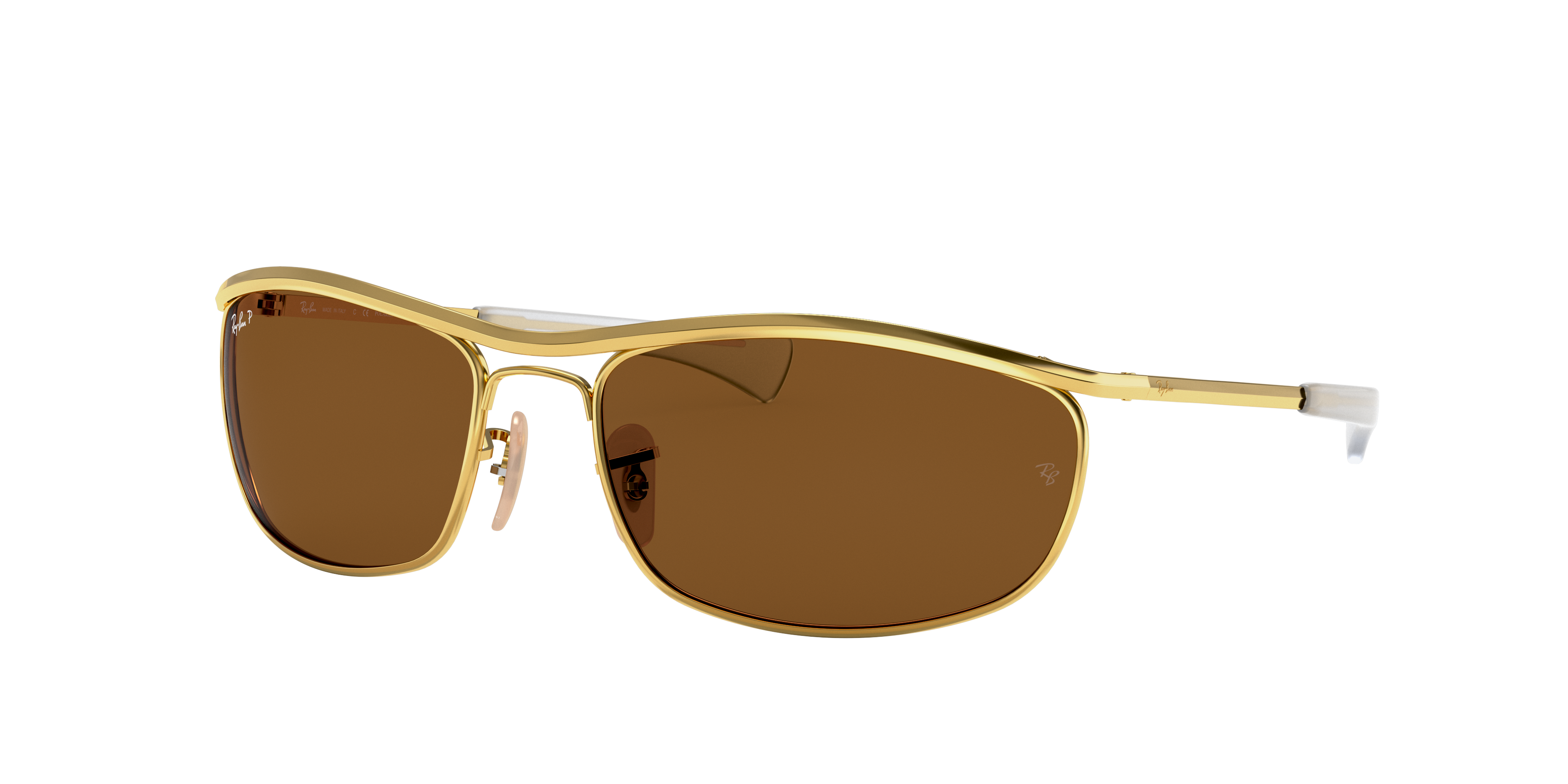 Ray-Ban Olympian I Deluxe Gold, Polarized Brown Lenses - RB3119M
