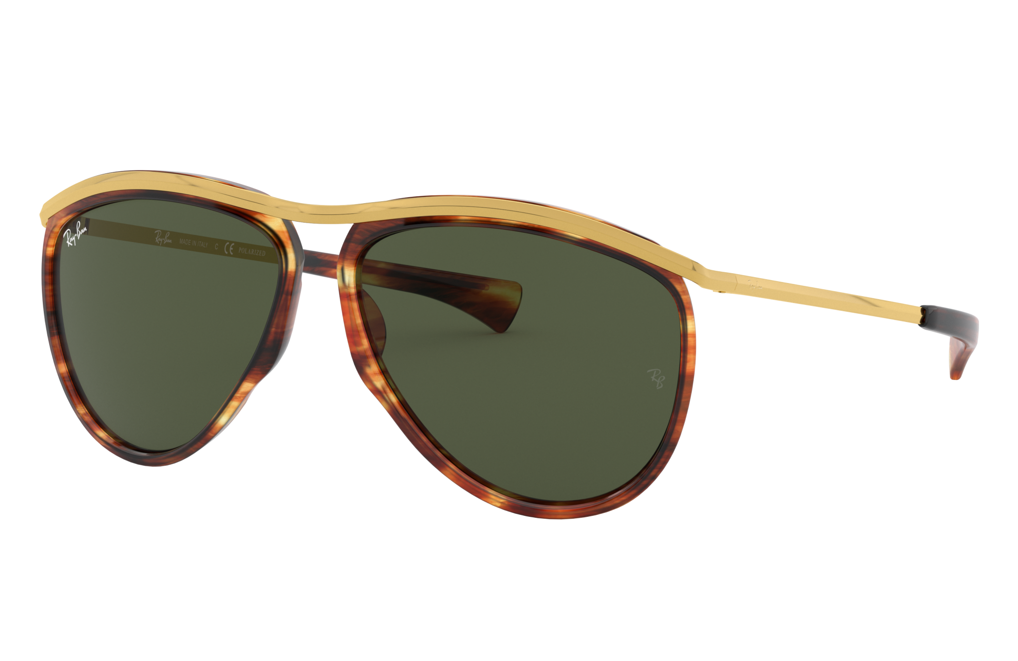 Ray-Ban Aviator Olympian Gold, Green Lenses - RB2219
