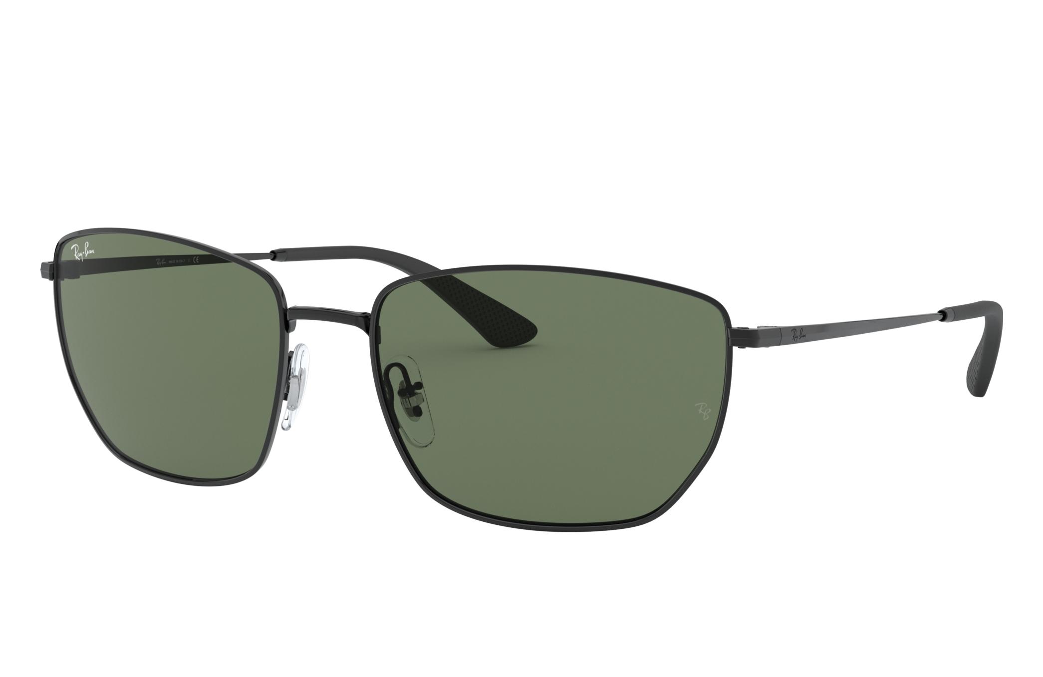 Ray-Ban Rb3653 Black, Green Lenses - RB3653