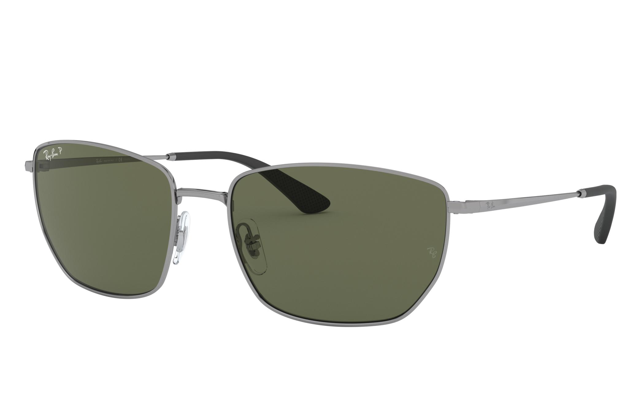 Ray-Ban Rb3653 Gunmetal, Polarized Green Lenses - RB3653