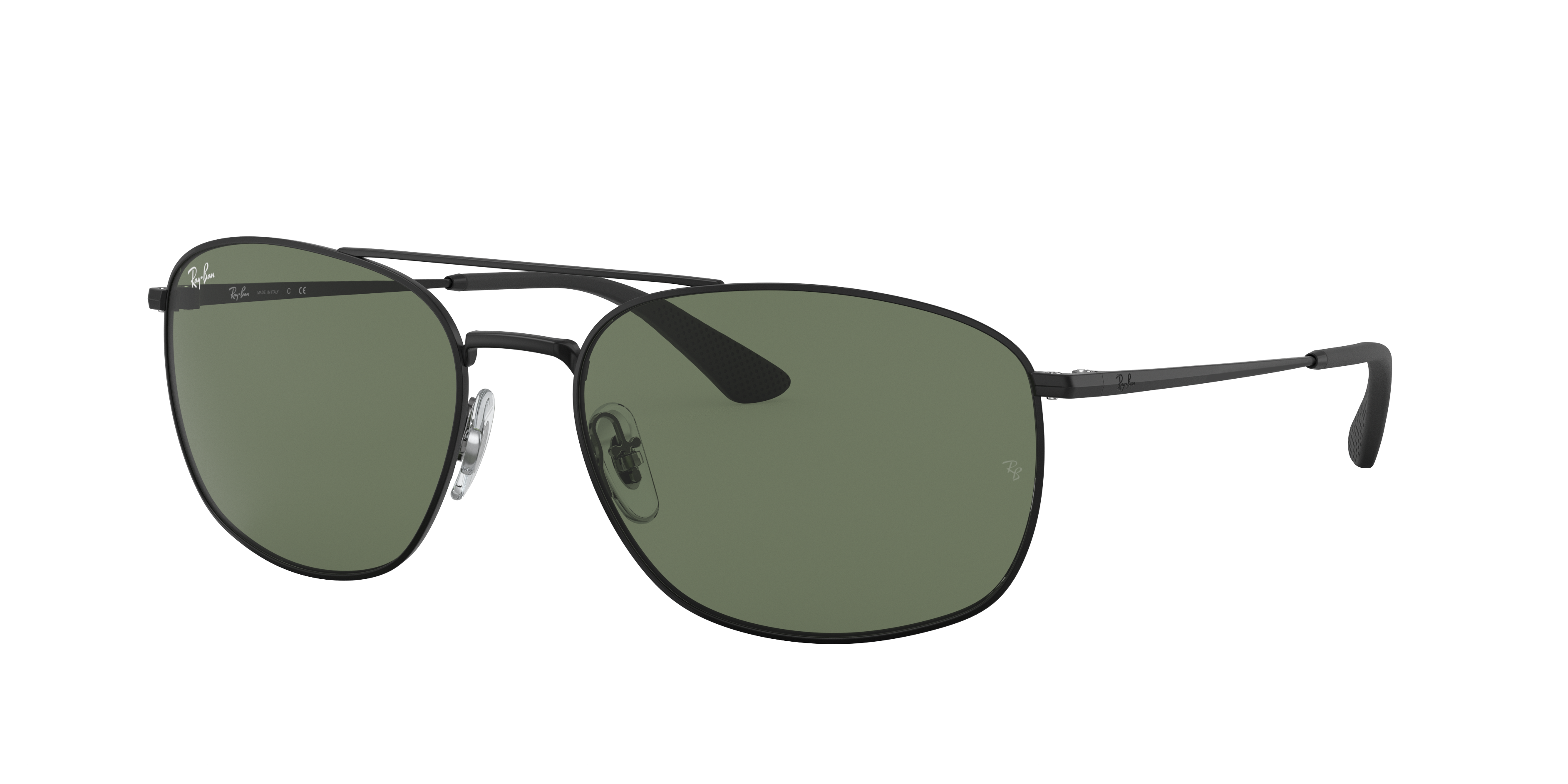 Ray-Ban Rb3654 Black, Green Lenses - RB3654