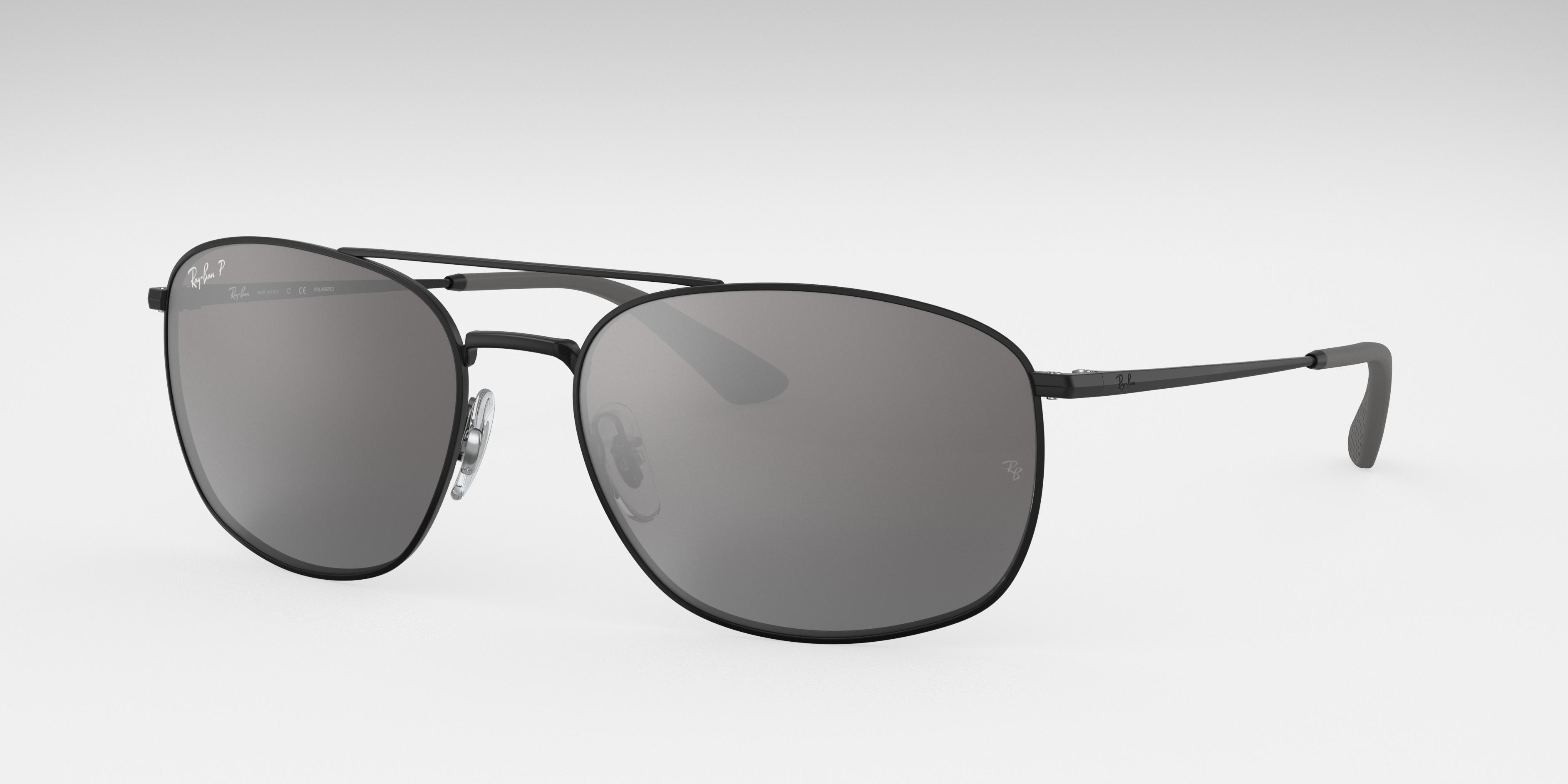 Ray-Ban Rb3654 Black, Polarized Grey Lenses - RB3654