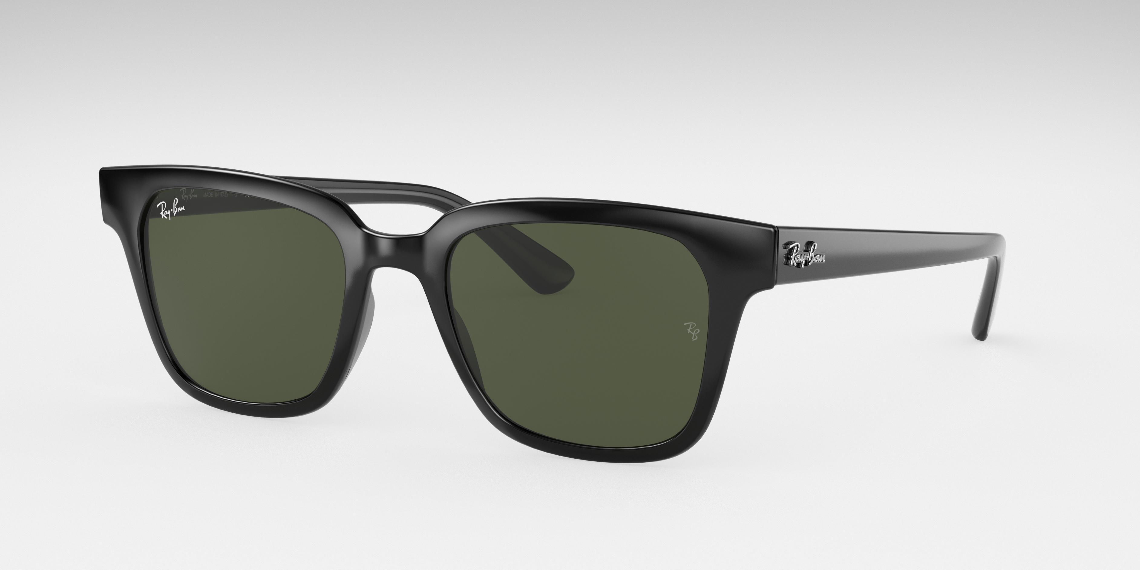 Ray-Ban Rb4323 Black, Green Lenses - RB4323