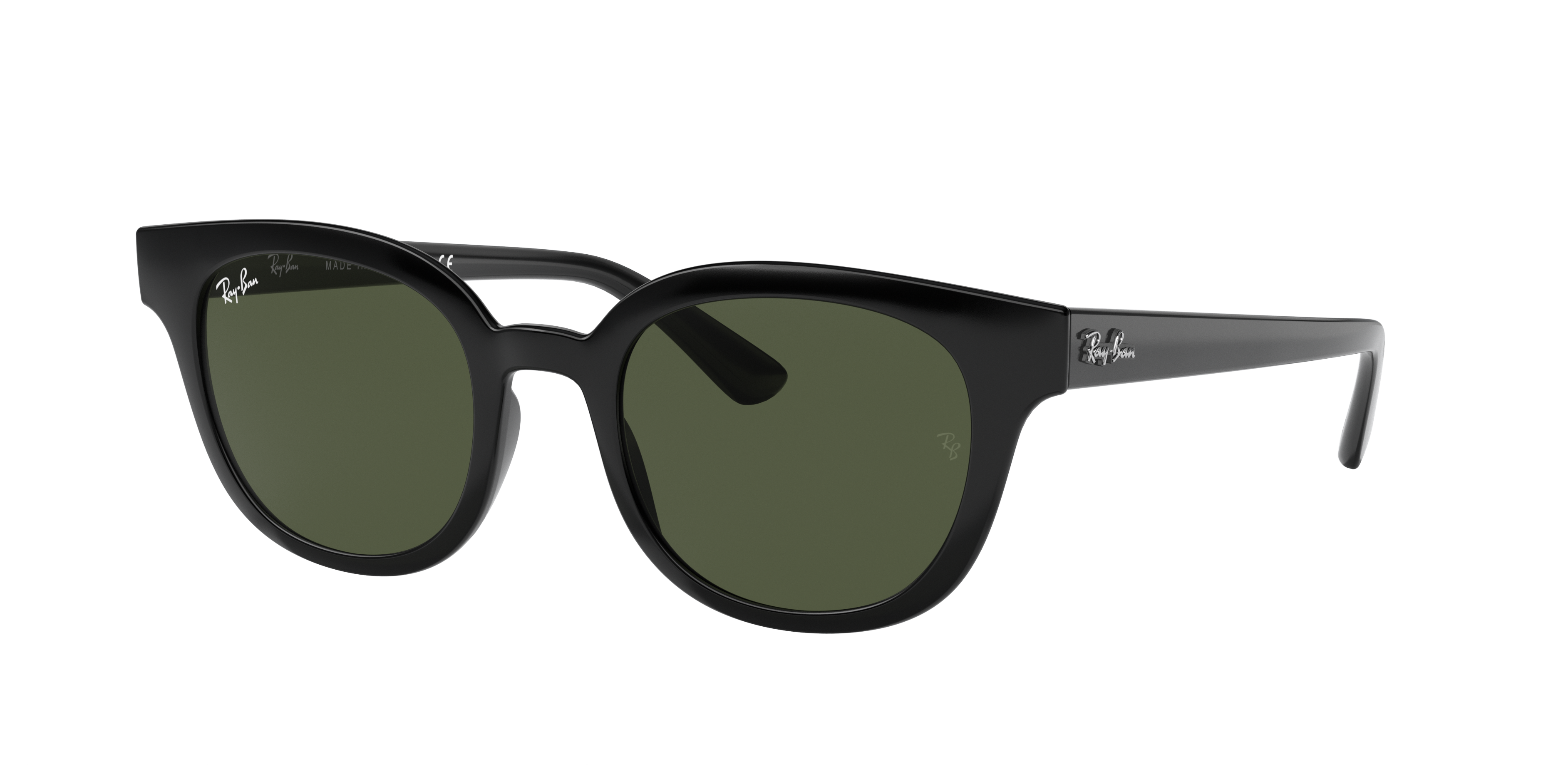 Ray-Ban Rb4324 Black, Green Lenses - RB4324