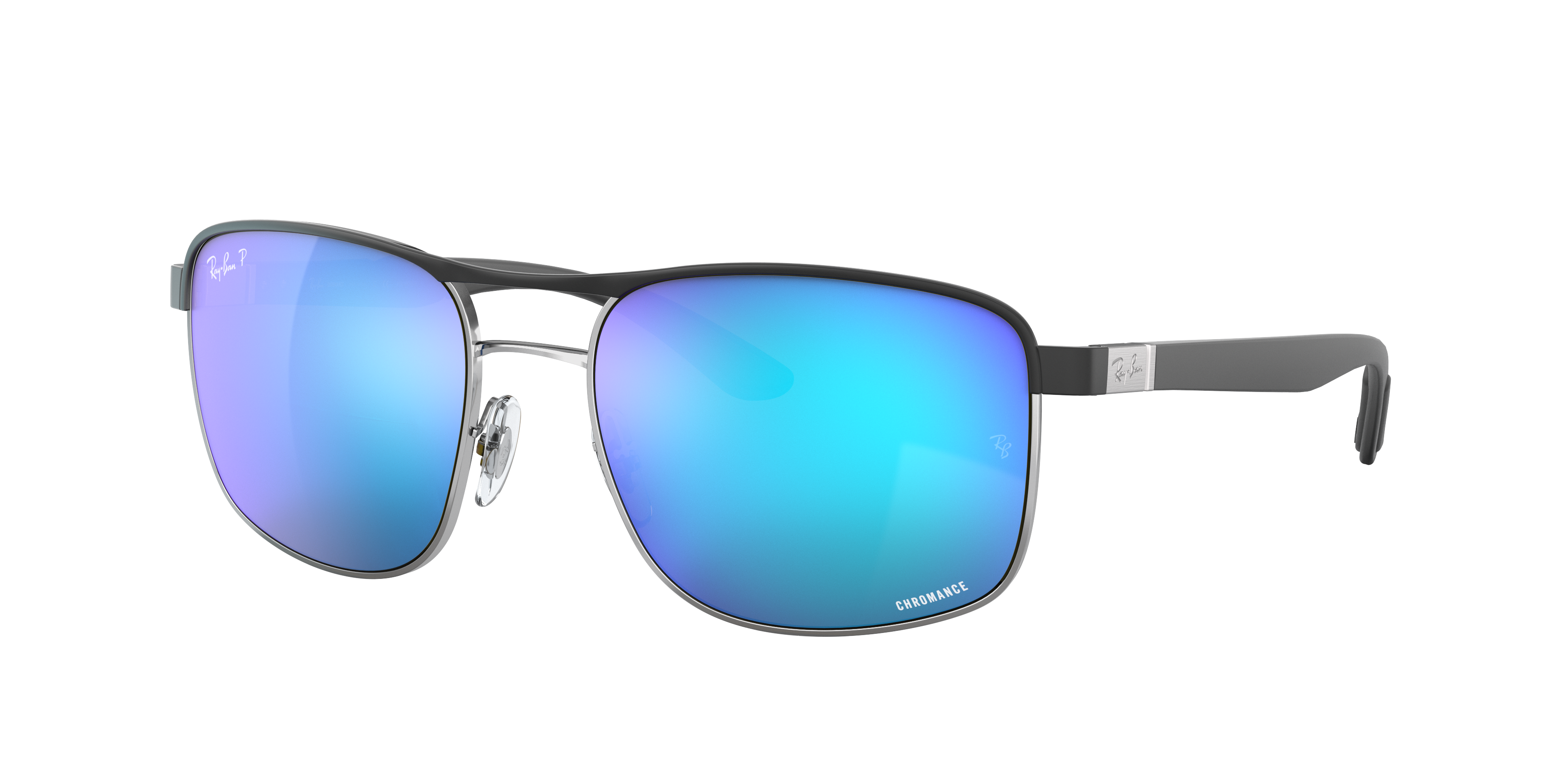 Ray-Ban Rb3660 Chromance Brushed Silver, Polarized Blue Lenses - RB3660CH