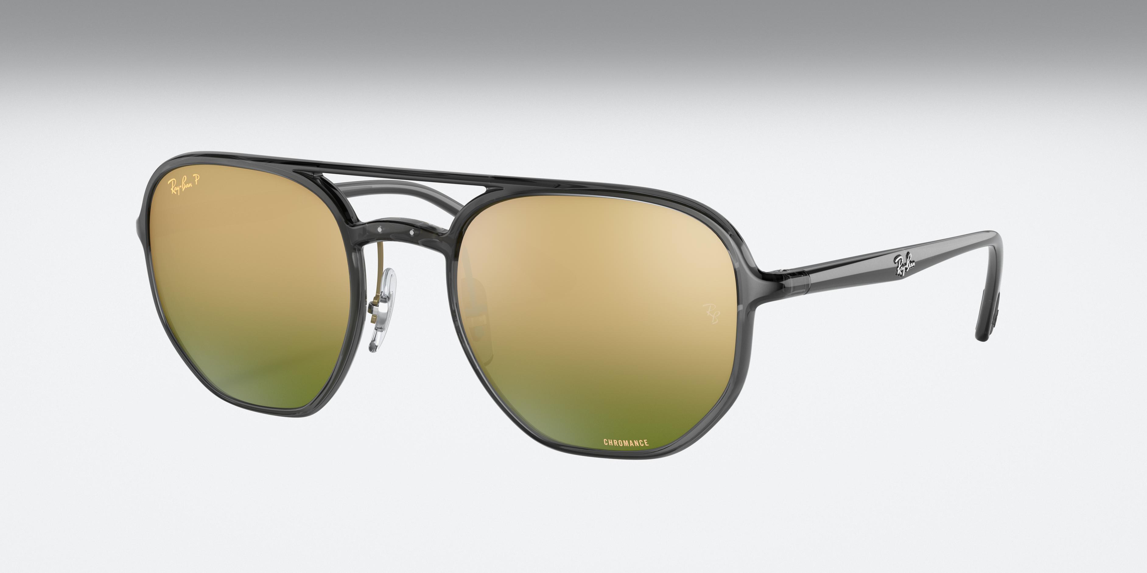 Ray-Ban Rb4321 Chromance Transparent Grey, Polarized Green Lenses - RB4321CH