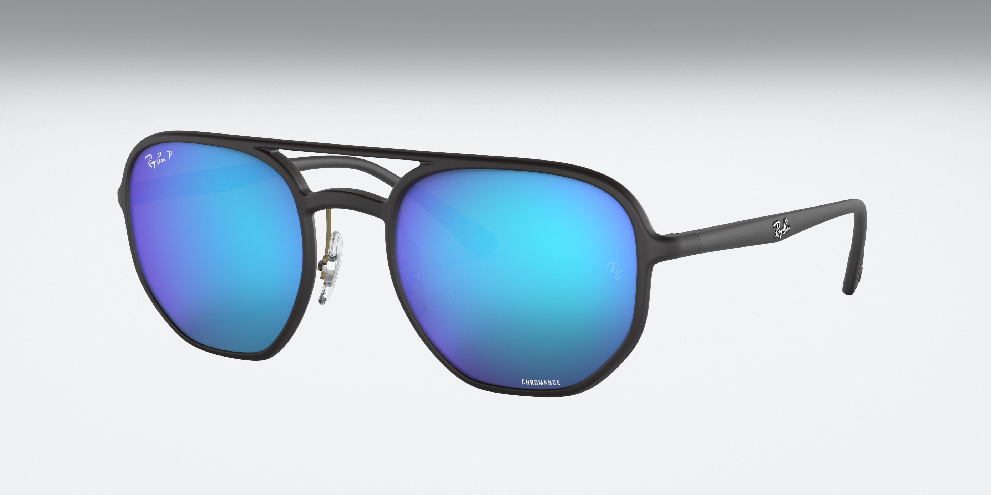 Ray-Ban Rb4321 Chromance Black, Polarized Blue Lenses - RB4321CH