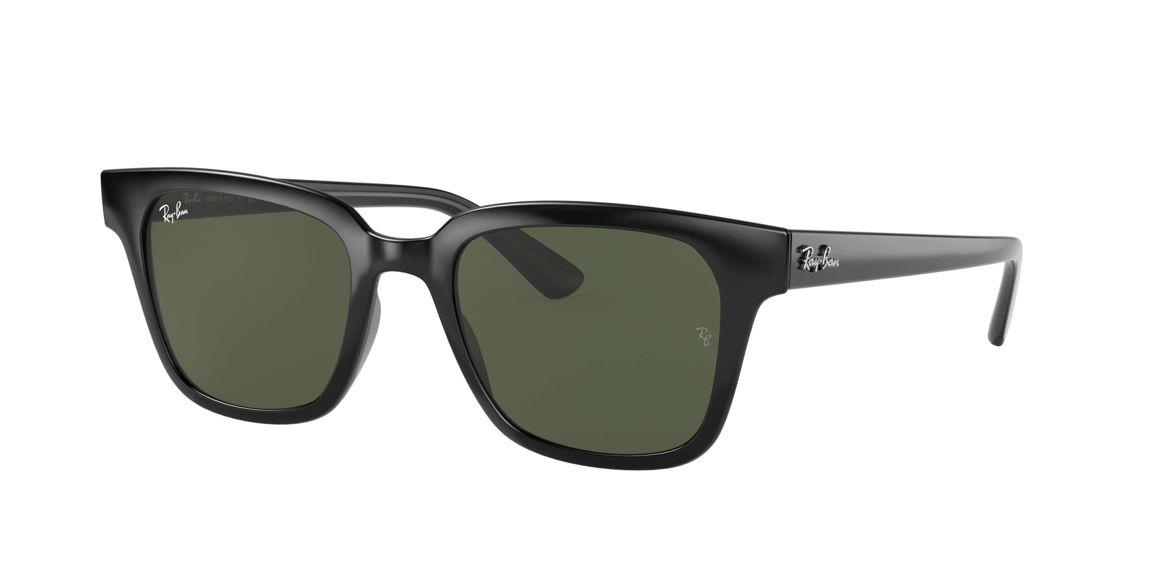 Ray-Ban Rb4323 Low Bridge Fit Black, Green Lenses - RB4323F