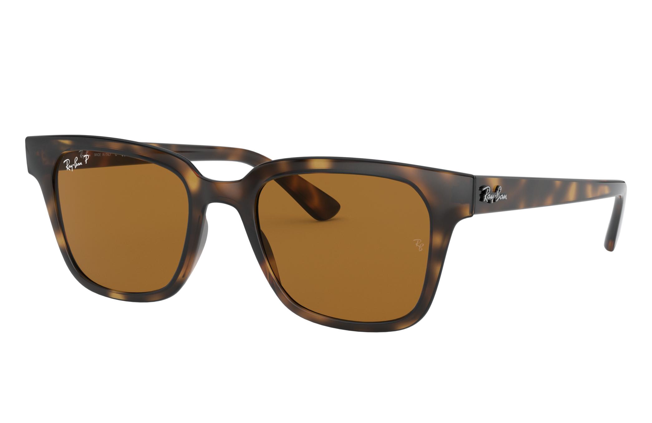 Ray-Ban Rb4323 Low Bridge Fit Tortoise, Polarized Brown Lenses - RB4323F