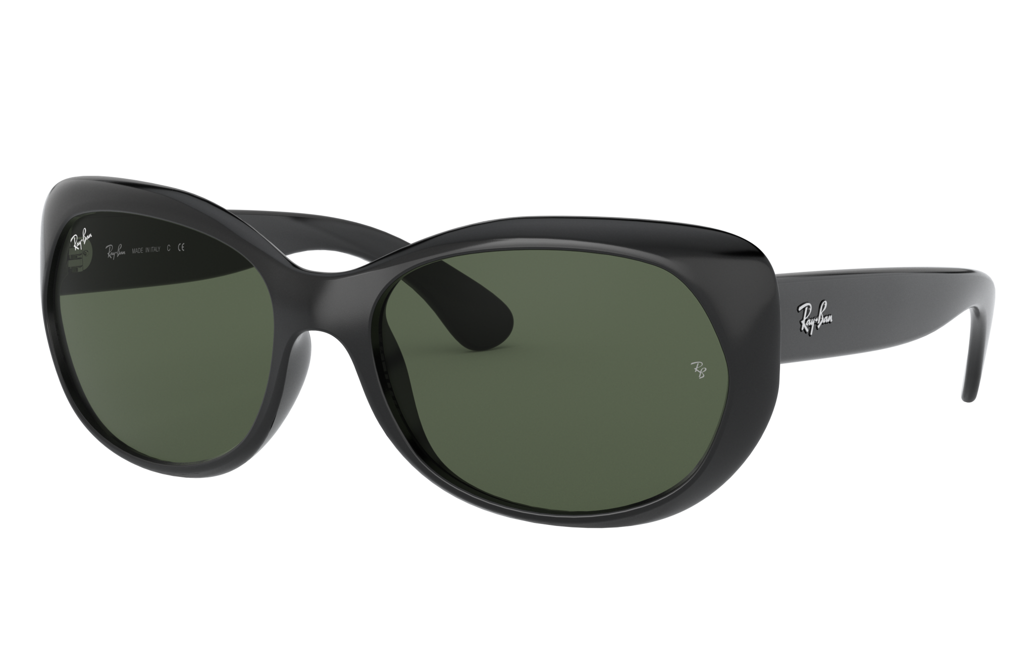 Ray-Ban Rb4325 Black, Green Lenses - RB4325