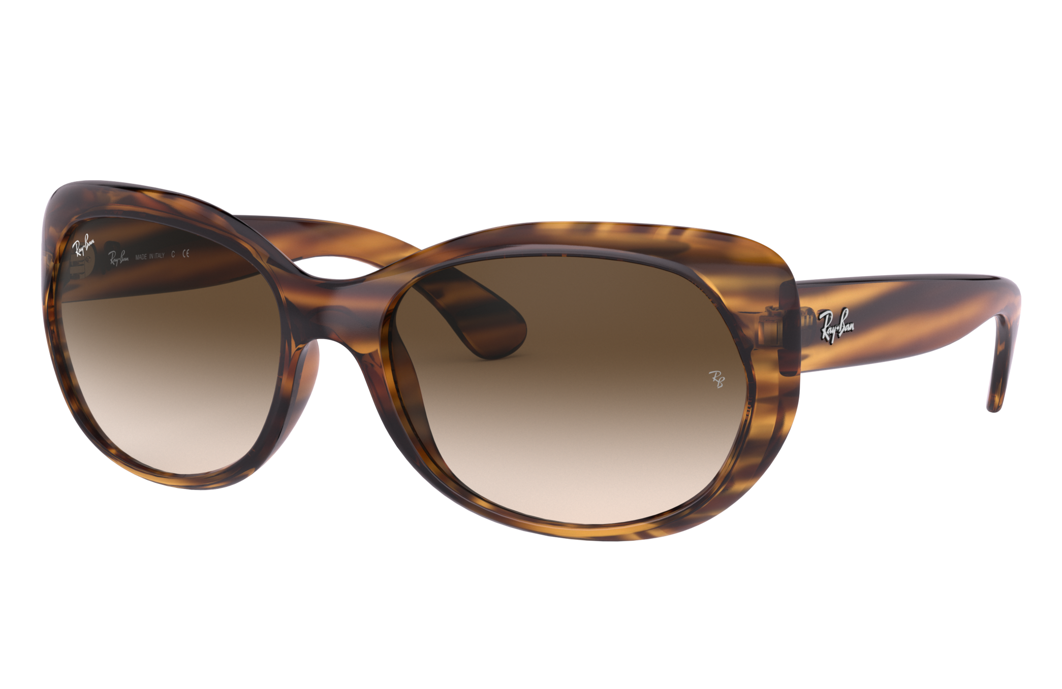 Ray-Ban Rb4325 Striped Brown, Brown Lenses - RB4325