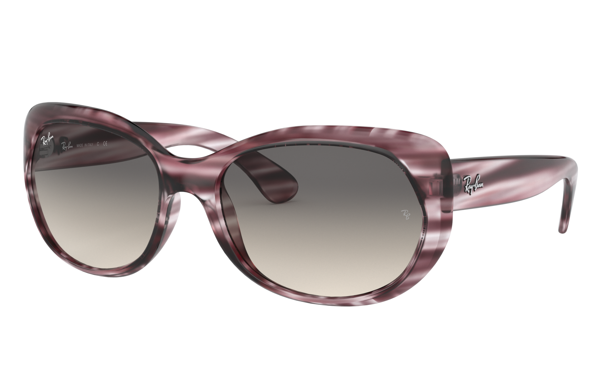 Ray-Ban Rb4325 Striped Bordeaux, Grey Lenses - RB4325