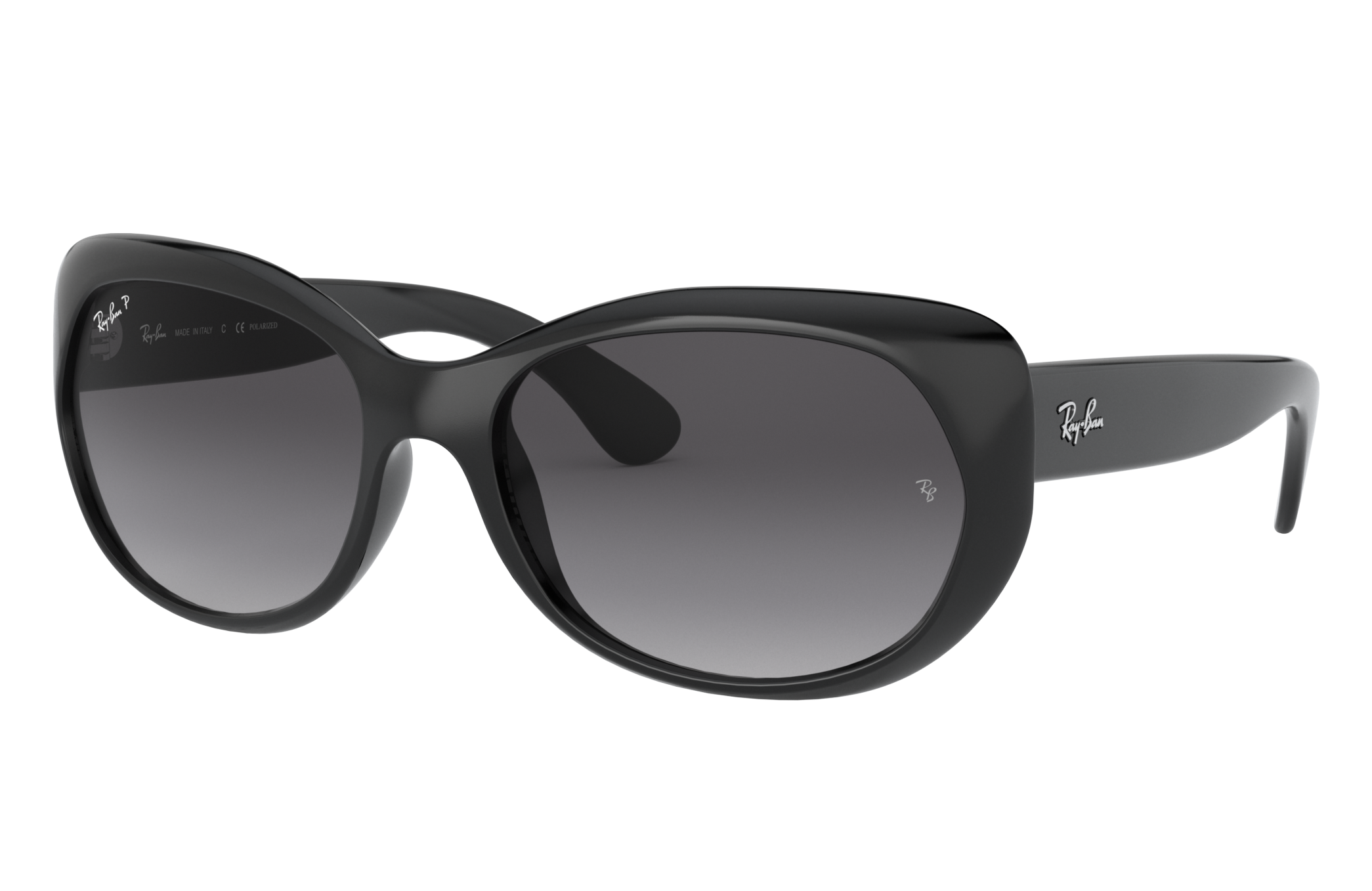 Ray-Ban Rb4325 Black, Polarized Grey Lenses - RB4325