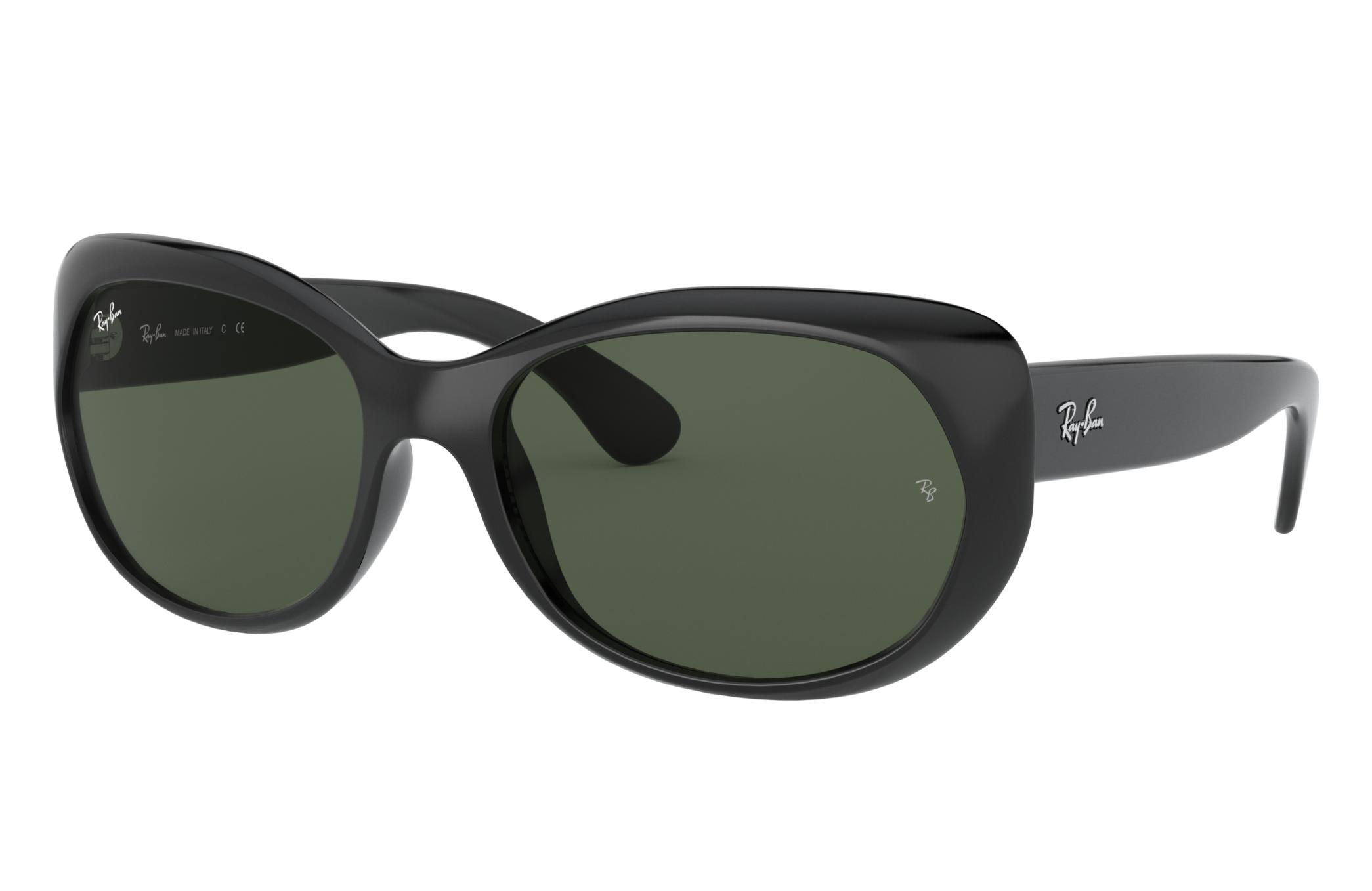 Ray-Ban Rb4325 Low Bridge Fit Black, Green Lenses - RB4325F