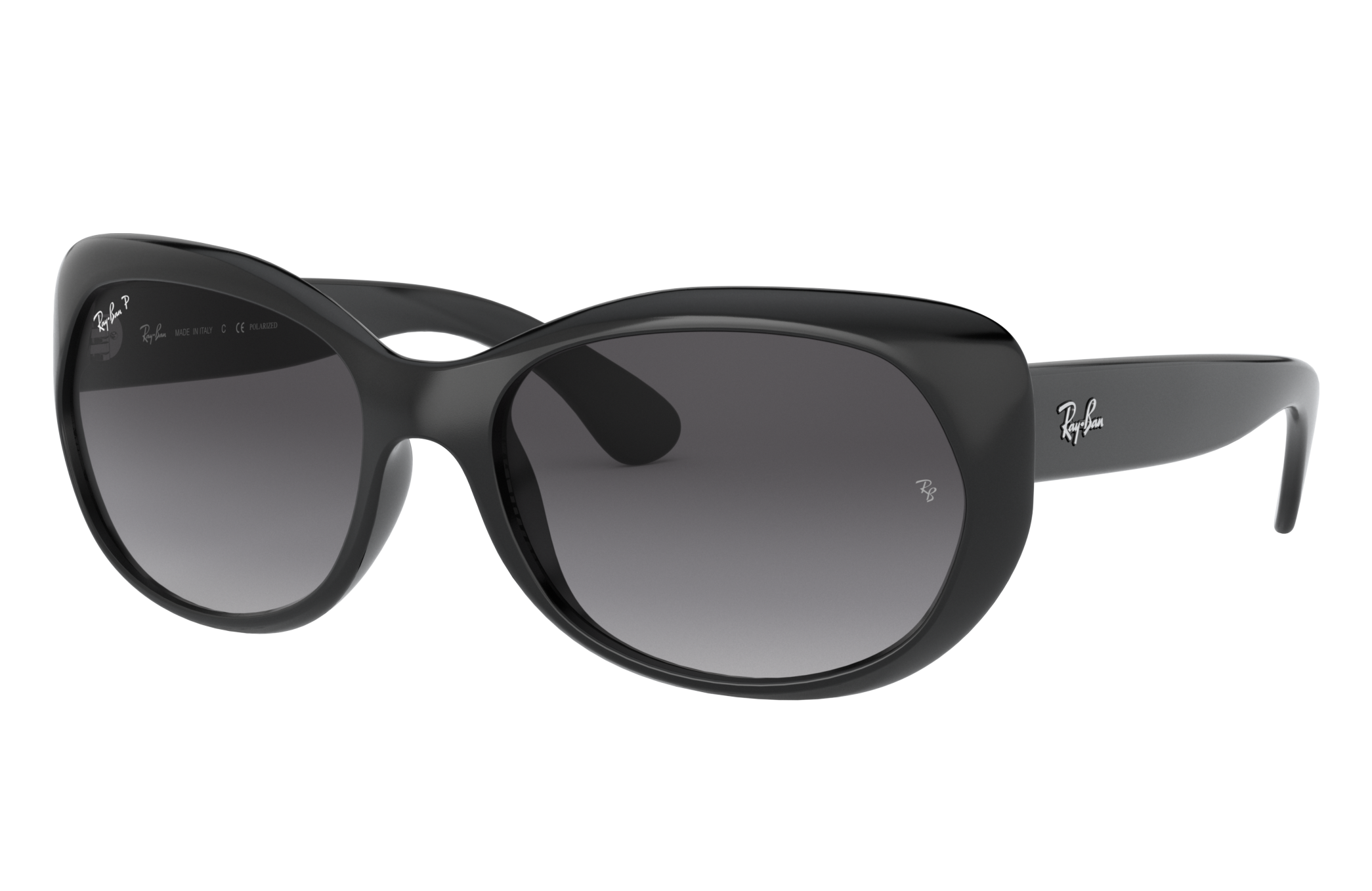 Ray-Ban Rb4325 Low Bridge Fit Black, Polarized Grey Lenses - RB4325F